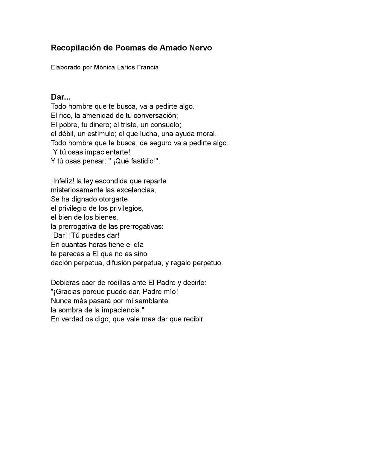 Calaméo Poemas De Amado Nervo