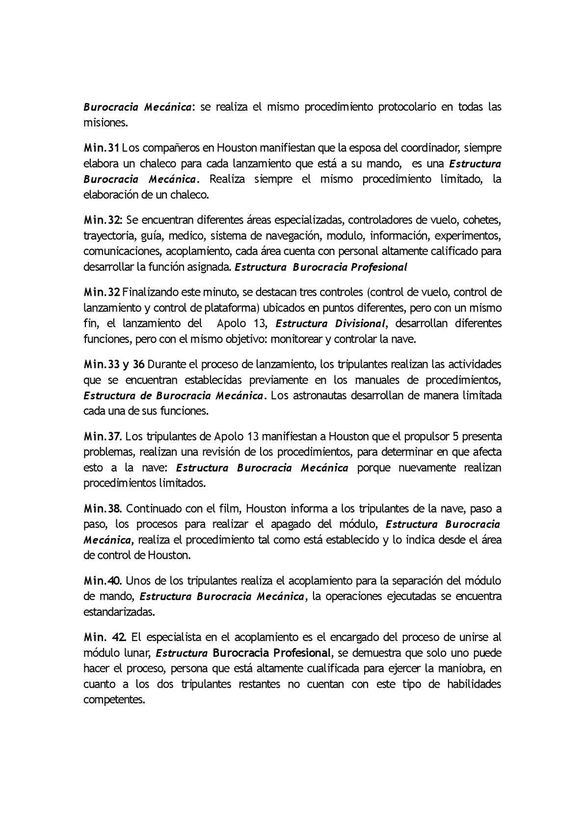 Minuto A Minuto Aplo 13 Estructura Organizacional