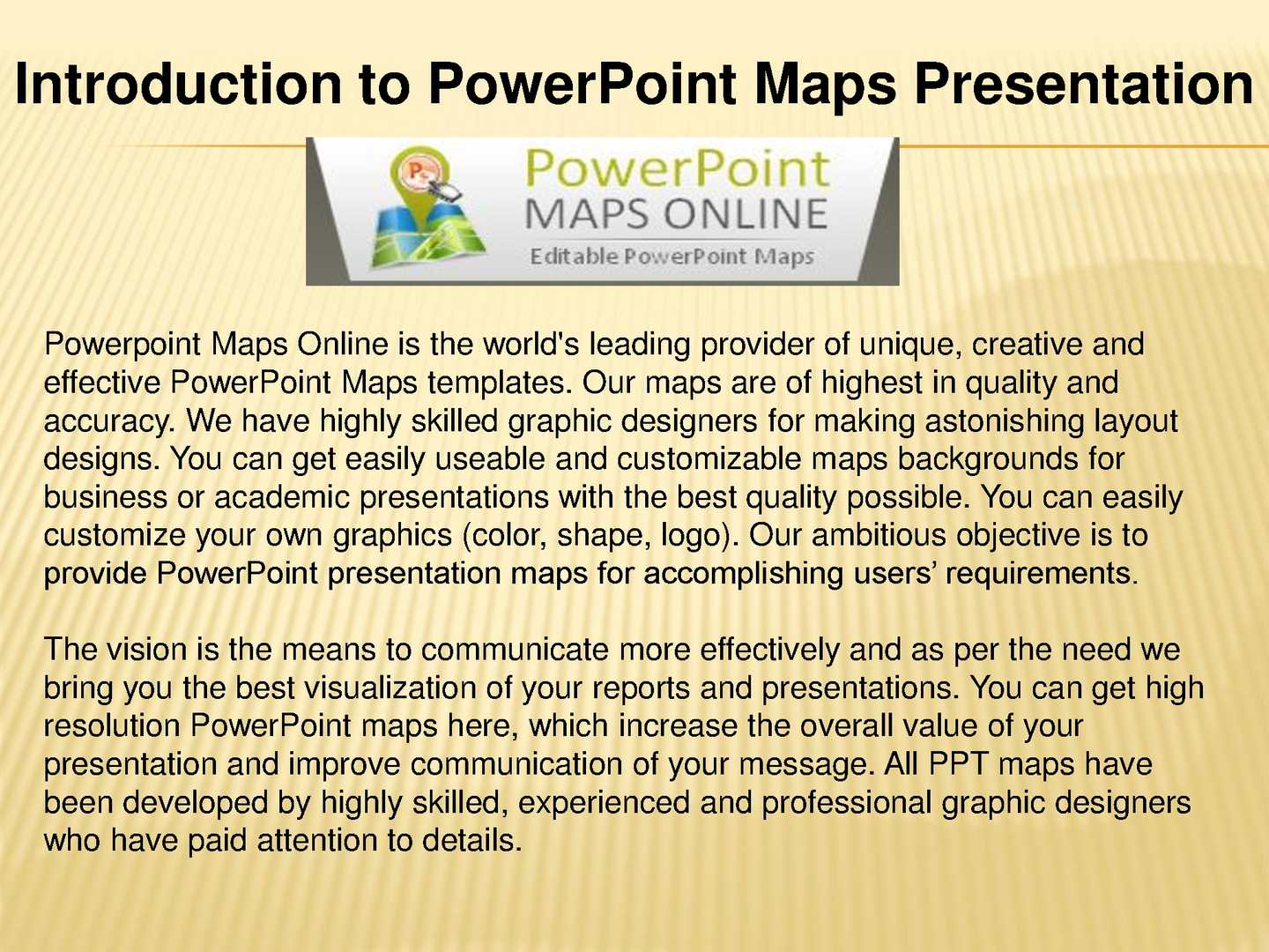 Calaméo - Introduction to PowerPoint Maps Presentation
