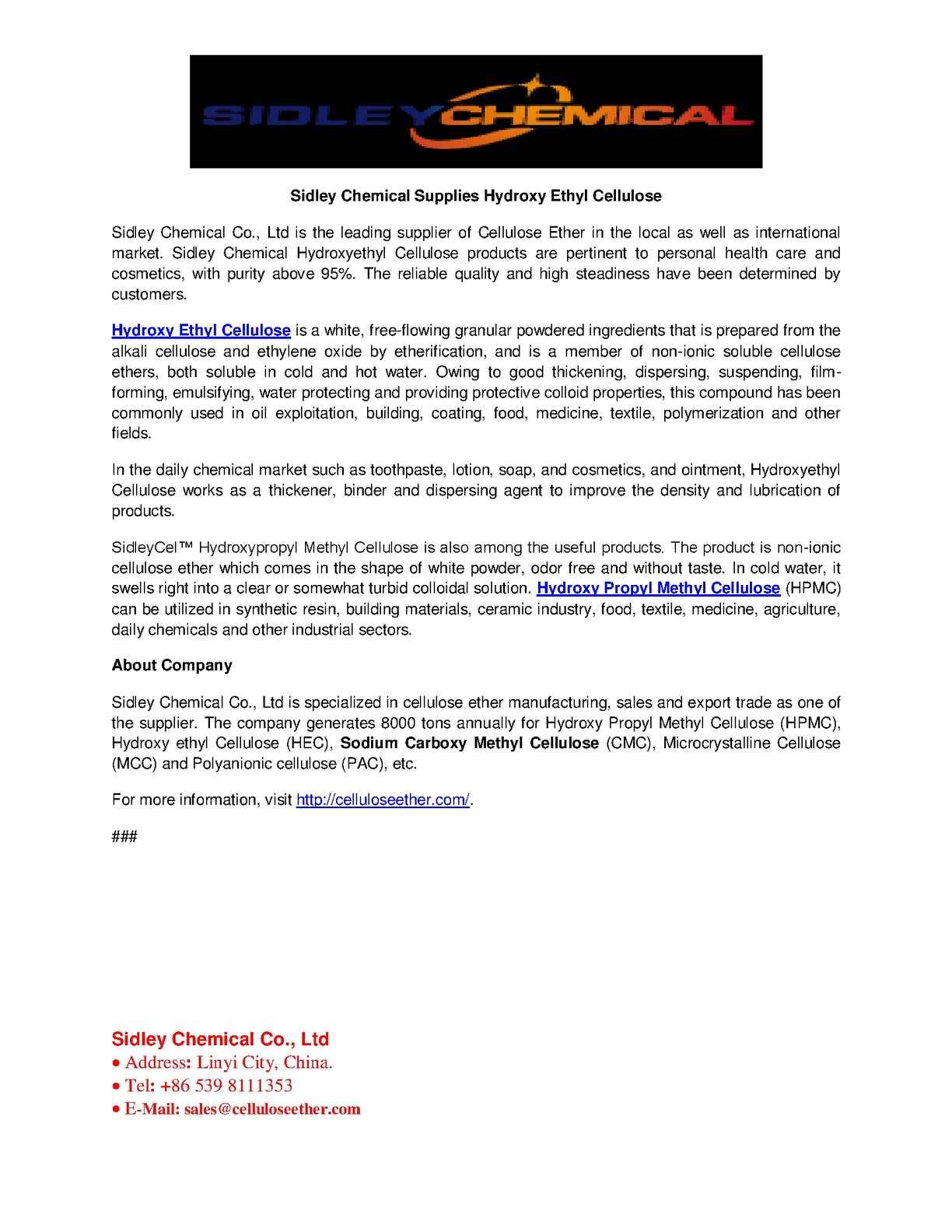 Calaméo - Hydroxy Ethyl Cellulose