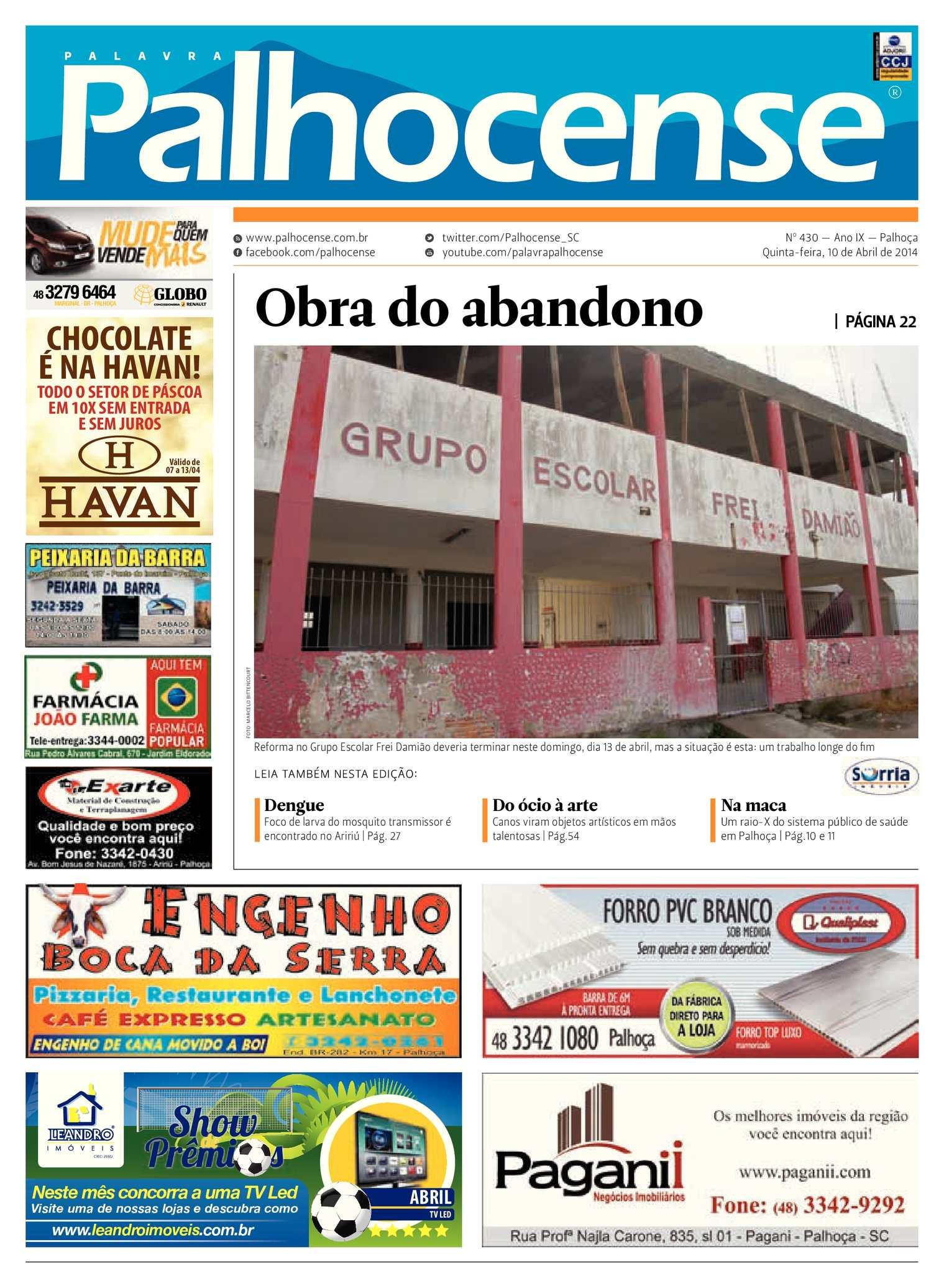 4bef760123 Calaméo - Jornal Palavra Palhocense - Edição 430