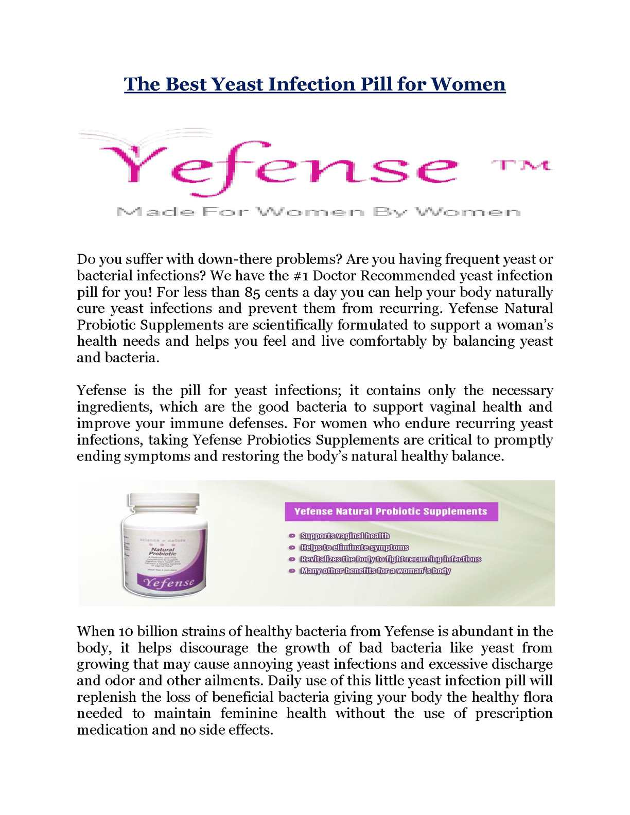 Yeast infection odor
