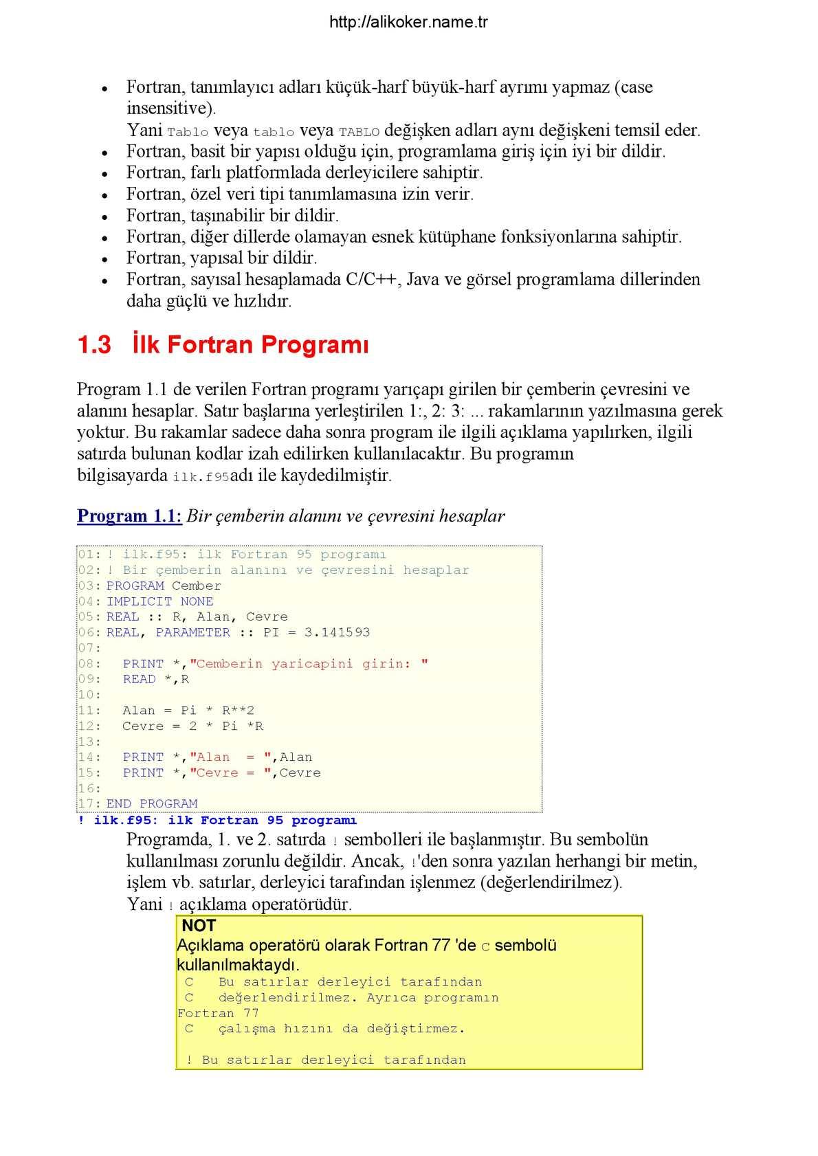 Fortran - Ahmet Bingul (alternatif 1) - CALAMEO Downloader