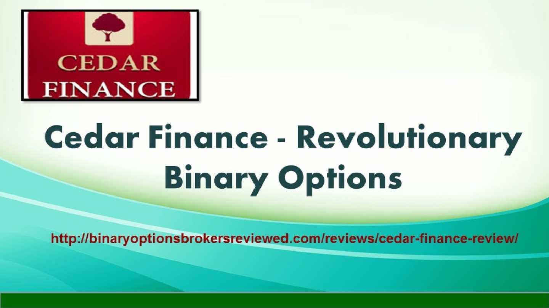 Binary option cedar finance