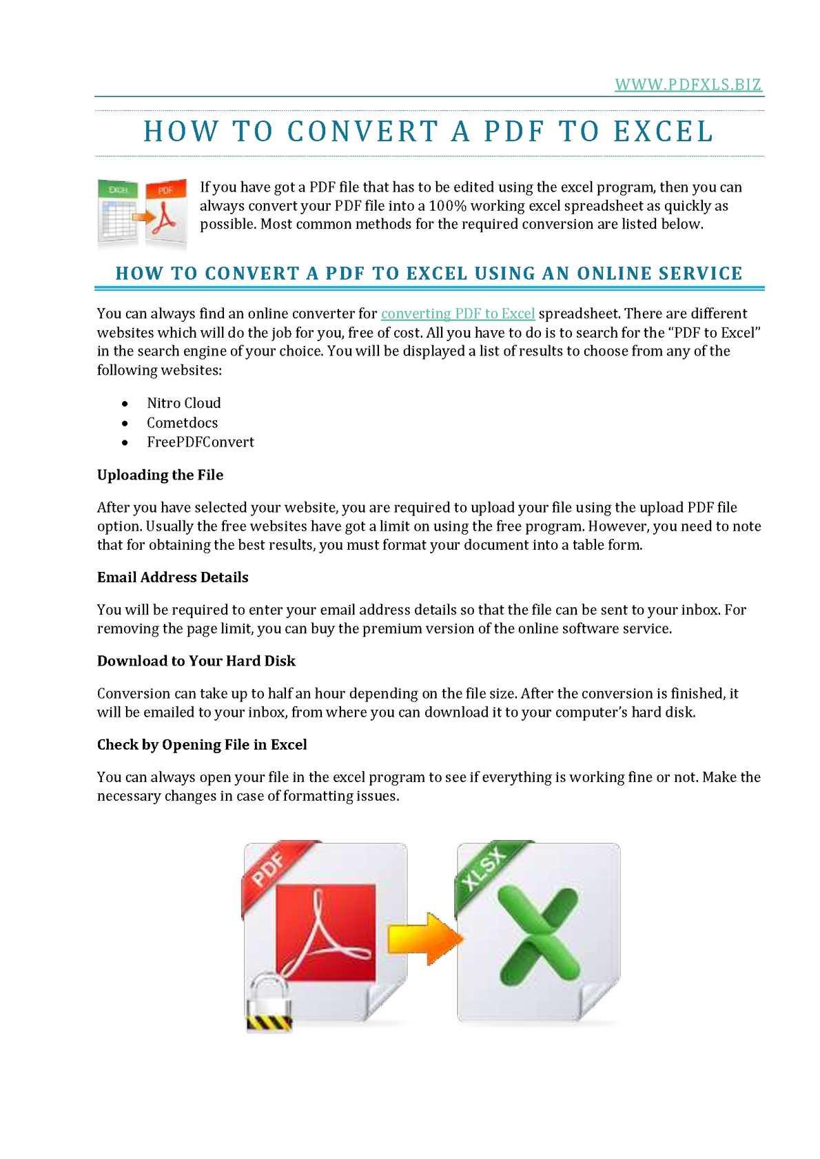 pdf file to excel converter online