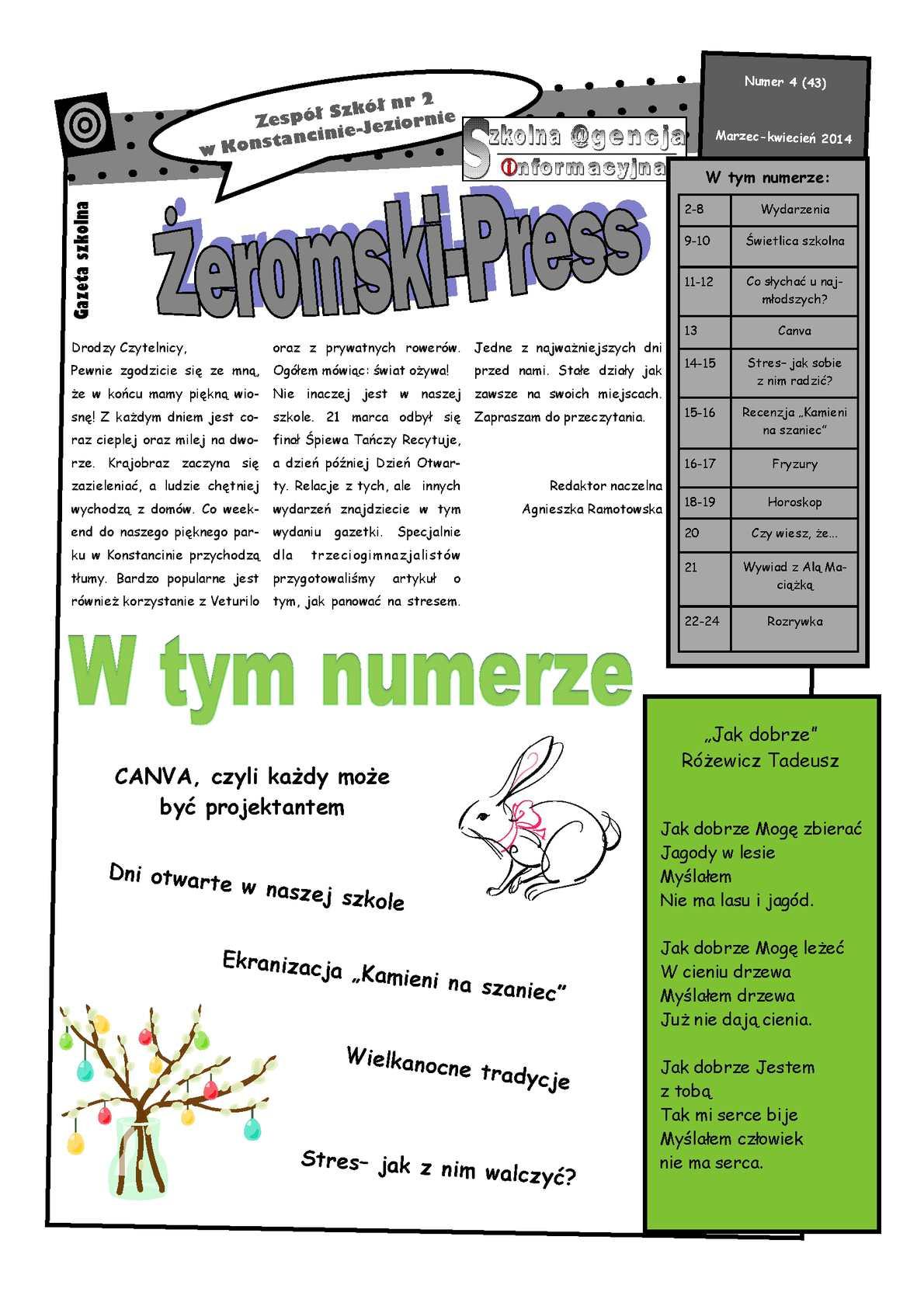 Calaméo żeromski Press Marzec Kwiecień 2014