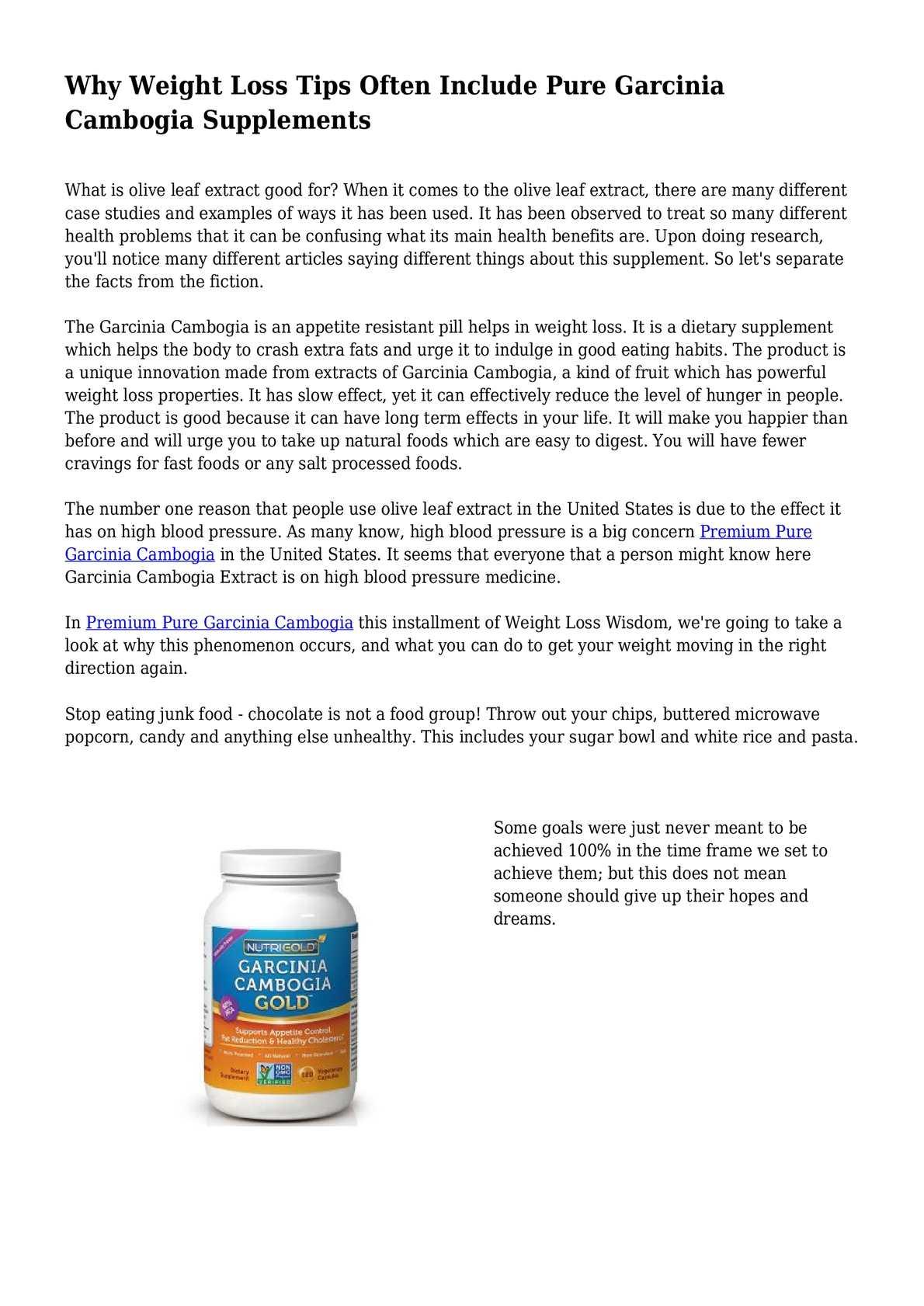 garcinia cambogia lower blood pressure