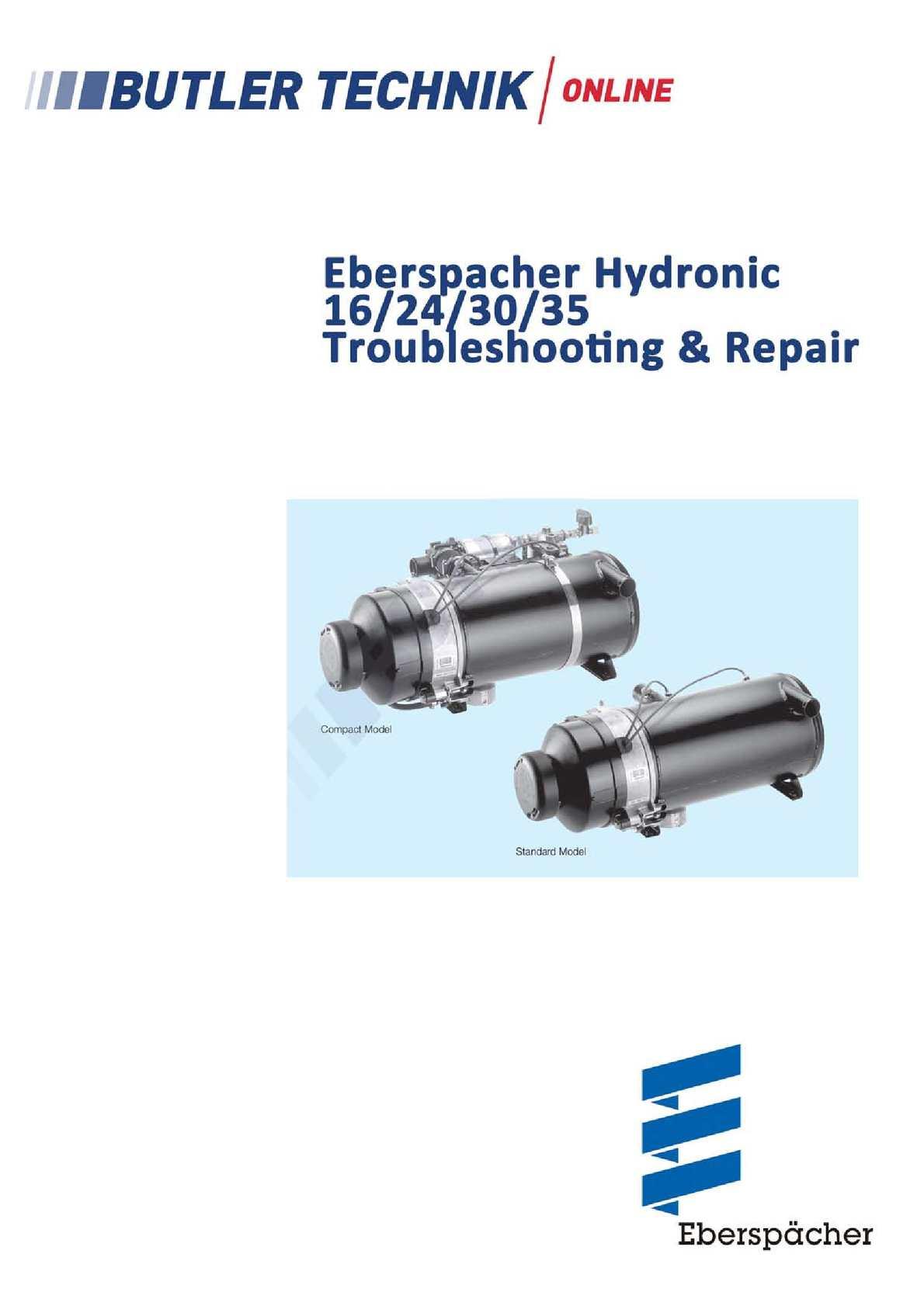 Calaméo - Eberspacher Hydronic 30 Workshop Manual