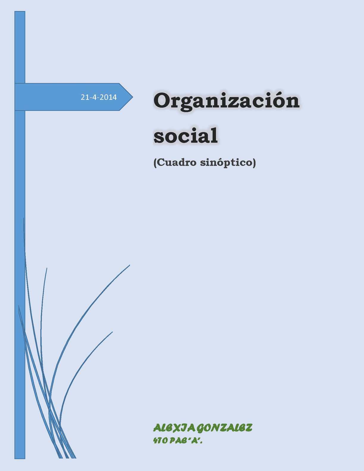 Calaméo Cuadro Sinoptico De La Organizacion Social