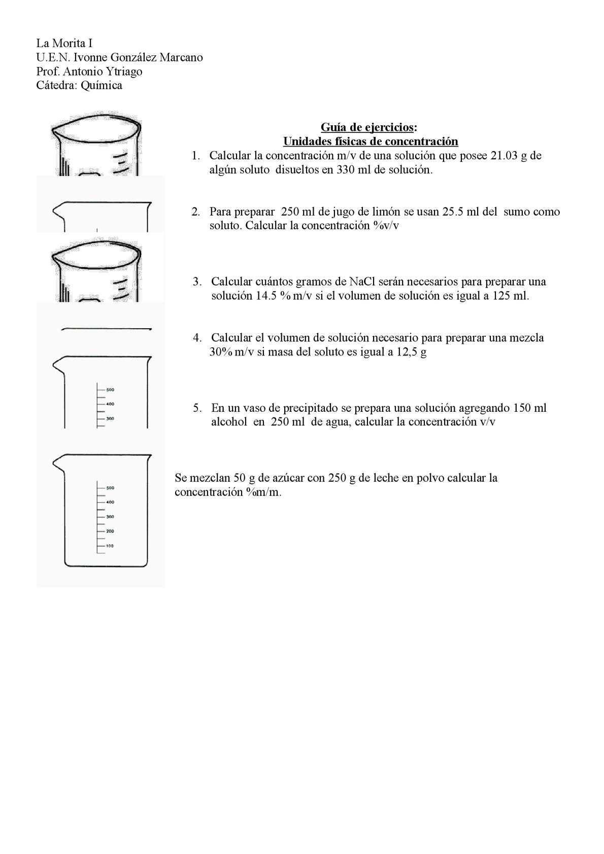 Calaméo Ejercicios Unidades Físicas De Concentración