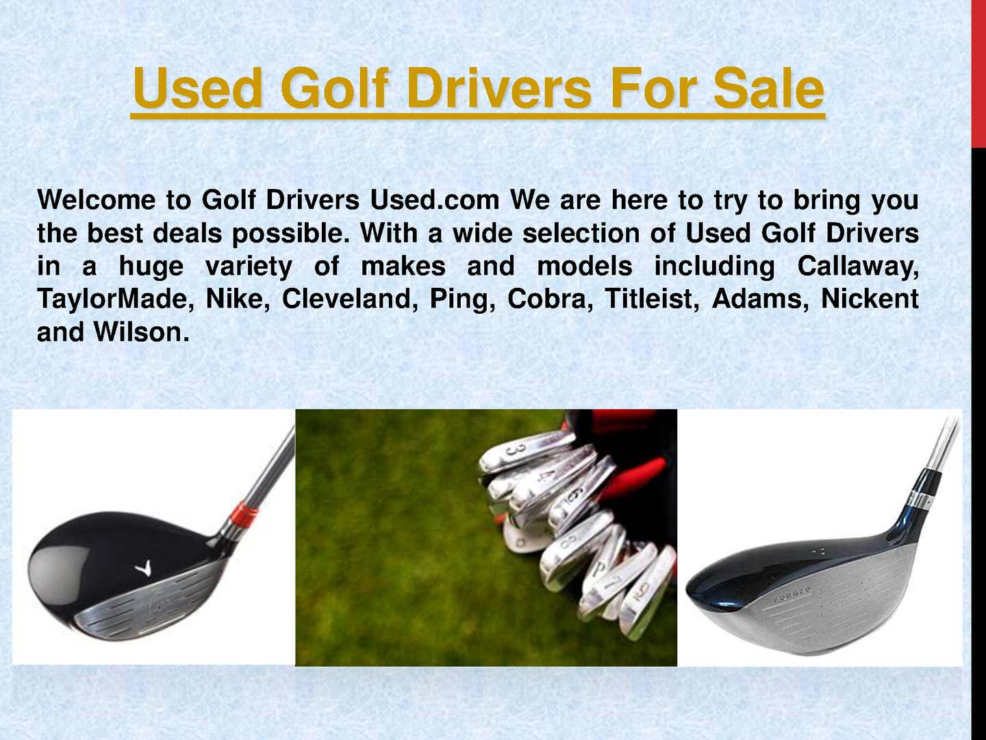 Calaméo - Used Golf Drivers For Sale