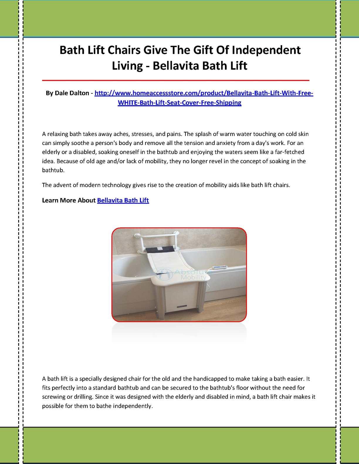 Calameo Bellavita Bath Lift Demo January 27 2014