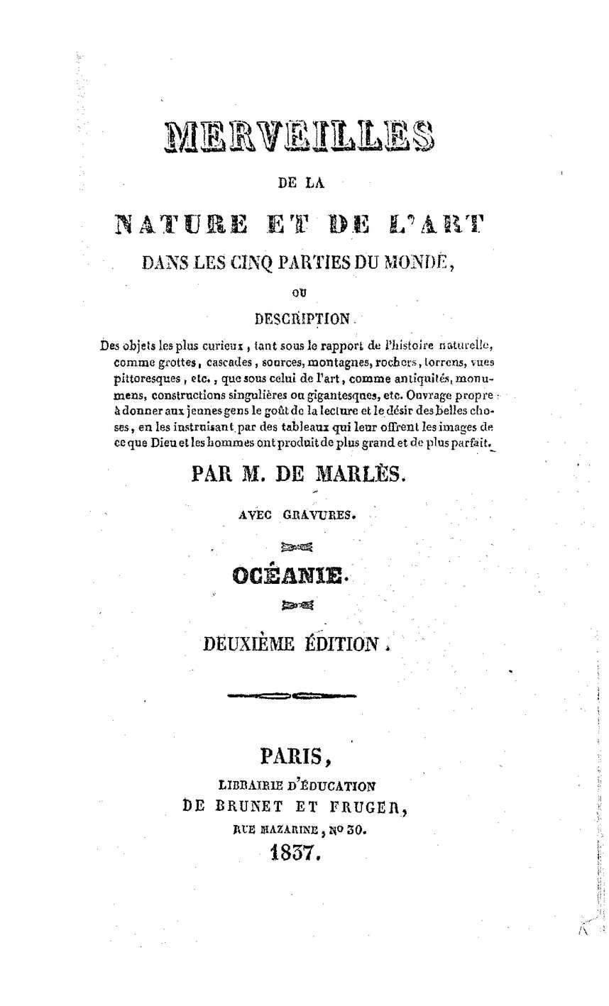 Calaméo - Merveilles de la nature et de l\'art - Océanie 1837-
