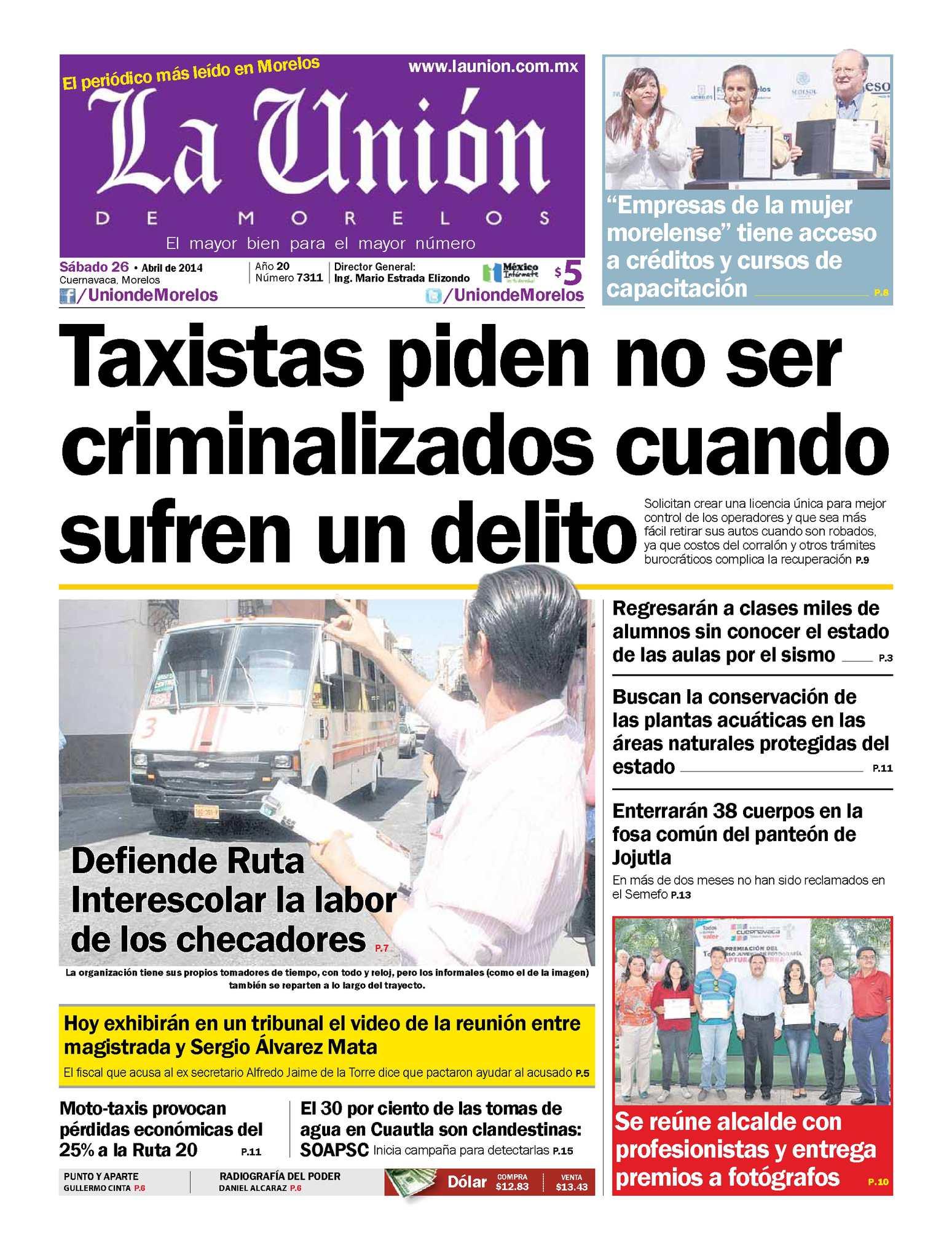 Calaméo - La Unión de Morelos 26 Abril 2014 cd9211412b0