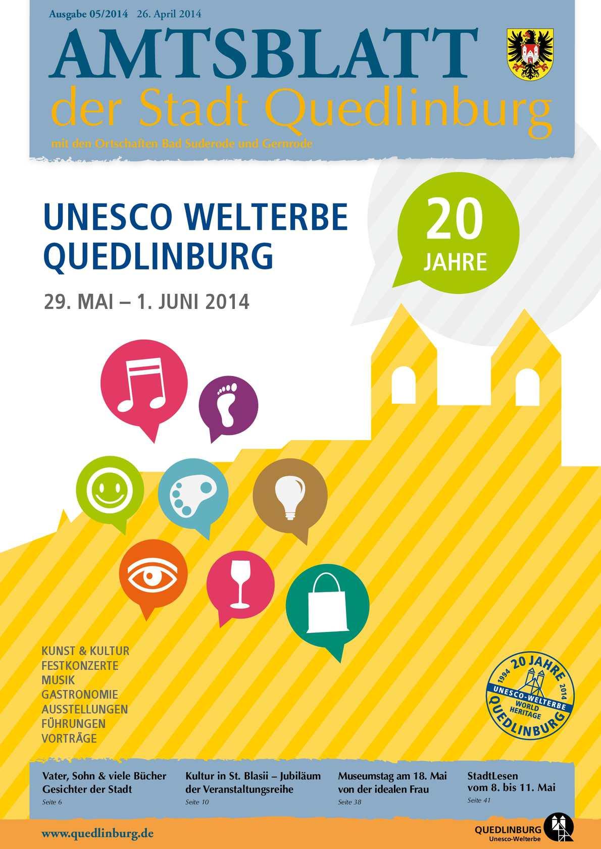 Calaméo Amtsblatt 052014 Der Stadt Quedlinburg Mit Den
