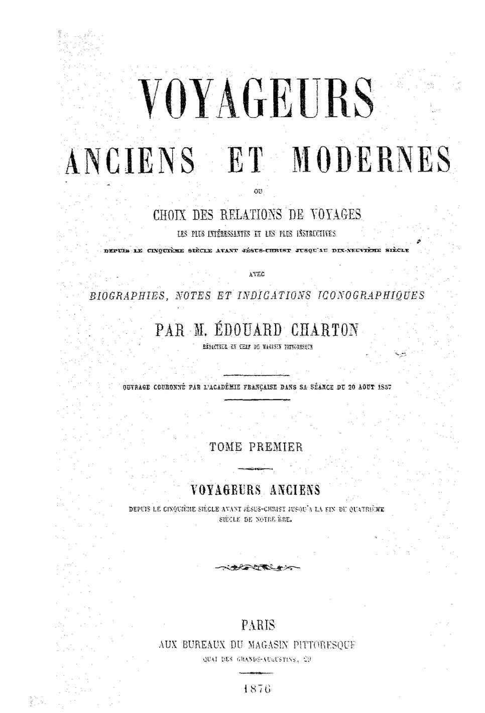 Calaméo Voyageurs Anciens Et Modernes Edouard Charton 1876