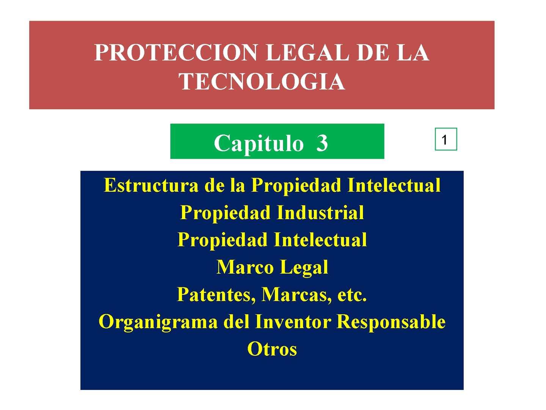PROTECCION LEGAL DE LA TECNOLOGIA