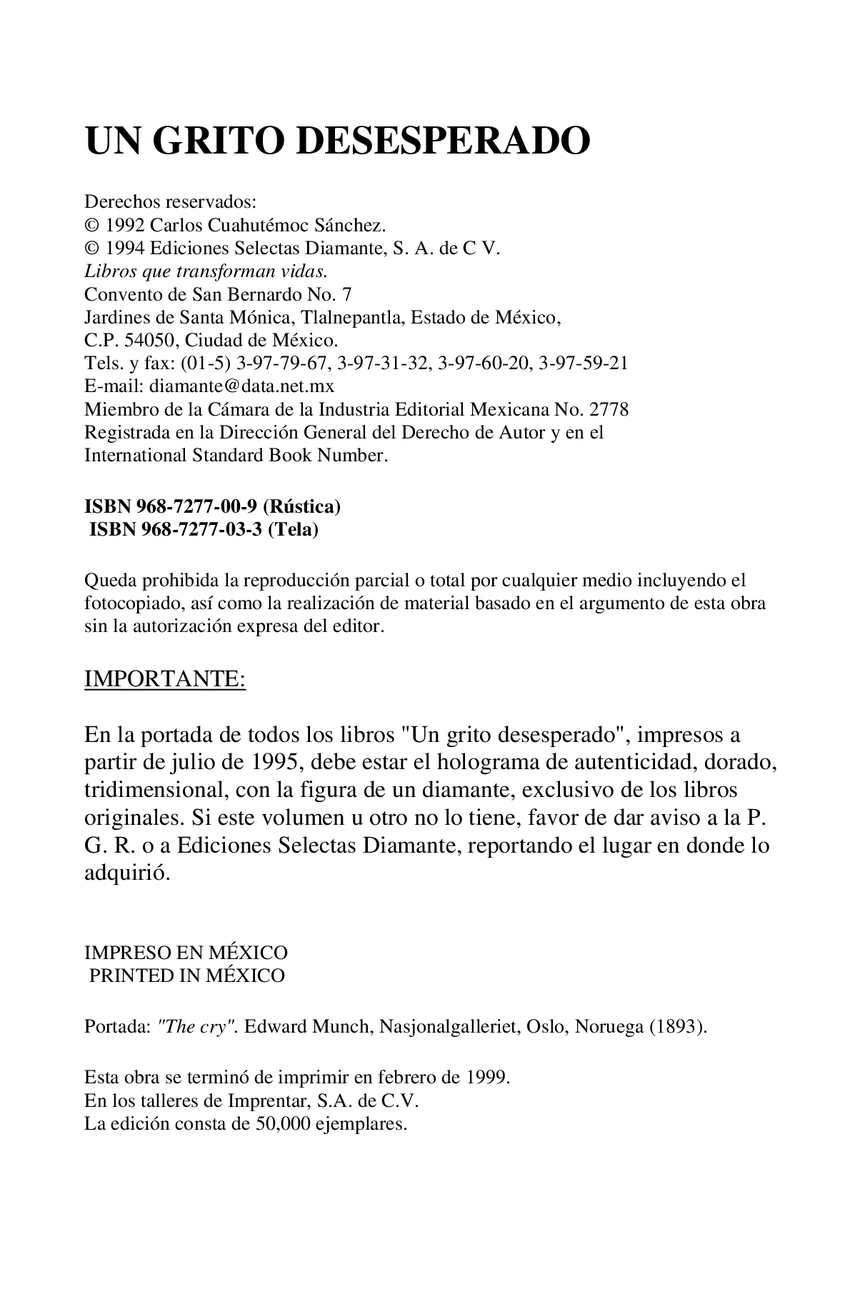 Calaméo - Un Grito Desesperado - Carlos Cuahutémoc