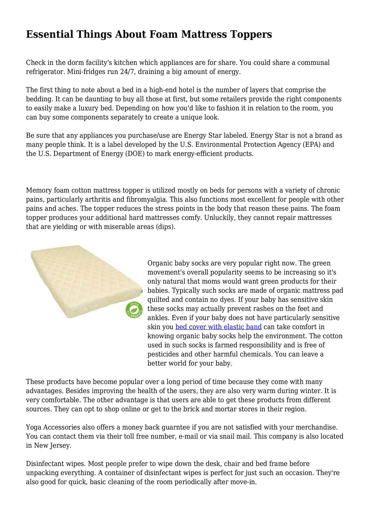 Calameo Essential Things About Foam Mattress Toppers