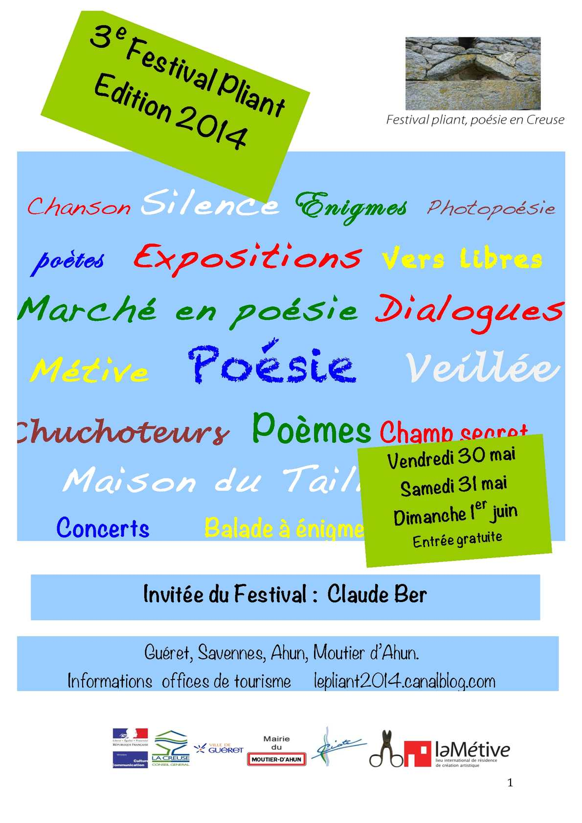 Calaméo Présentation Du Festival Pliant édition 2014