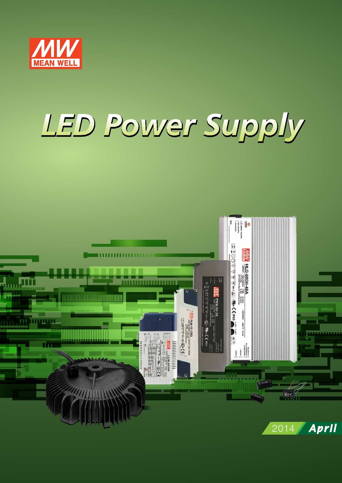 MW Mean Well PLC-60-12 12V 5A 60W Single Output LED Power Supply with PFC