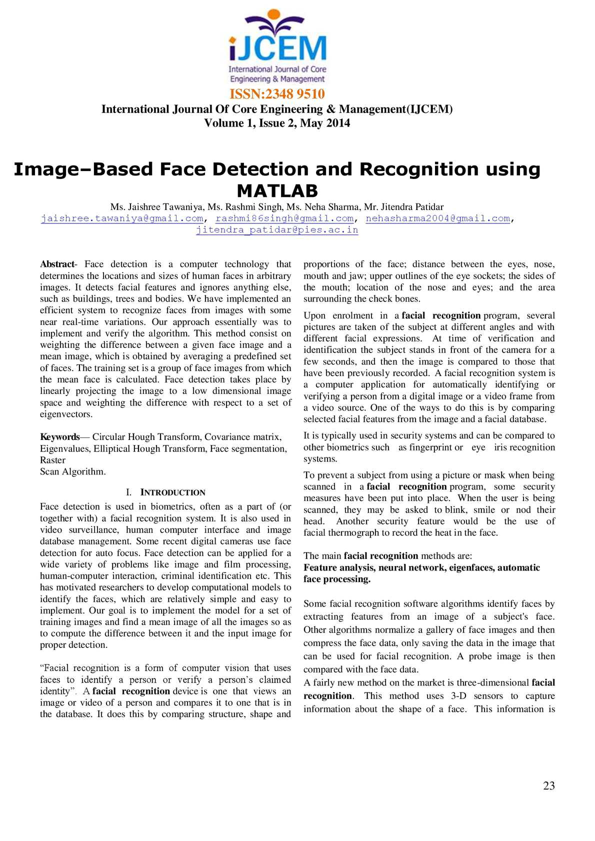 Calaméo - Image–Based-Face-Detection-and-Recognition-using-MATLAB
