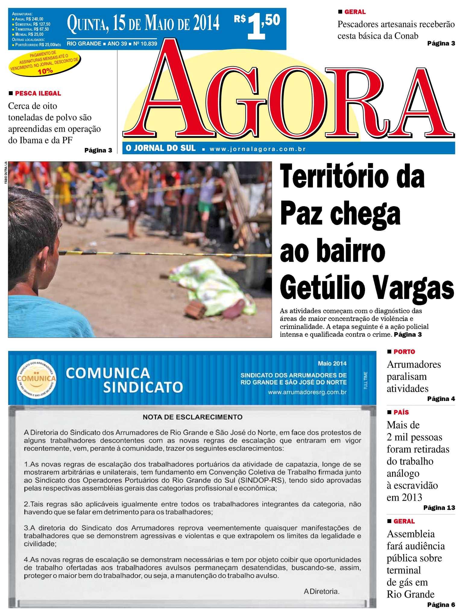 Calaméo - Jornal Agora - Edição 10839 - 15 de maio de 2014 8d1d2e1812b7a