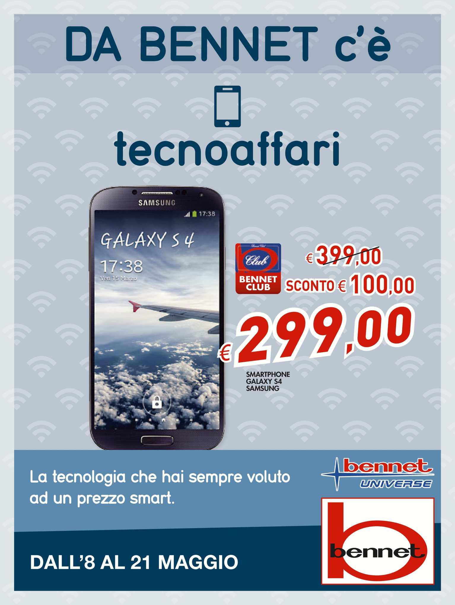 quality design 2bfa6 876ff Calaméo - Volantino Bennet Elettronica 8-21 mag