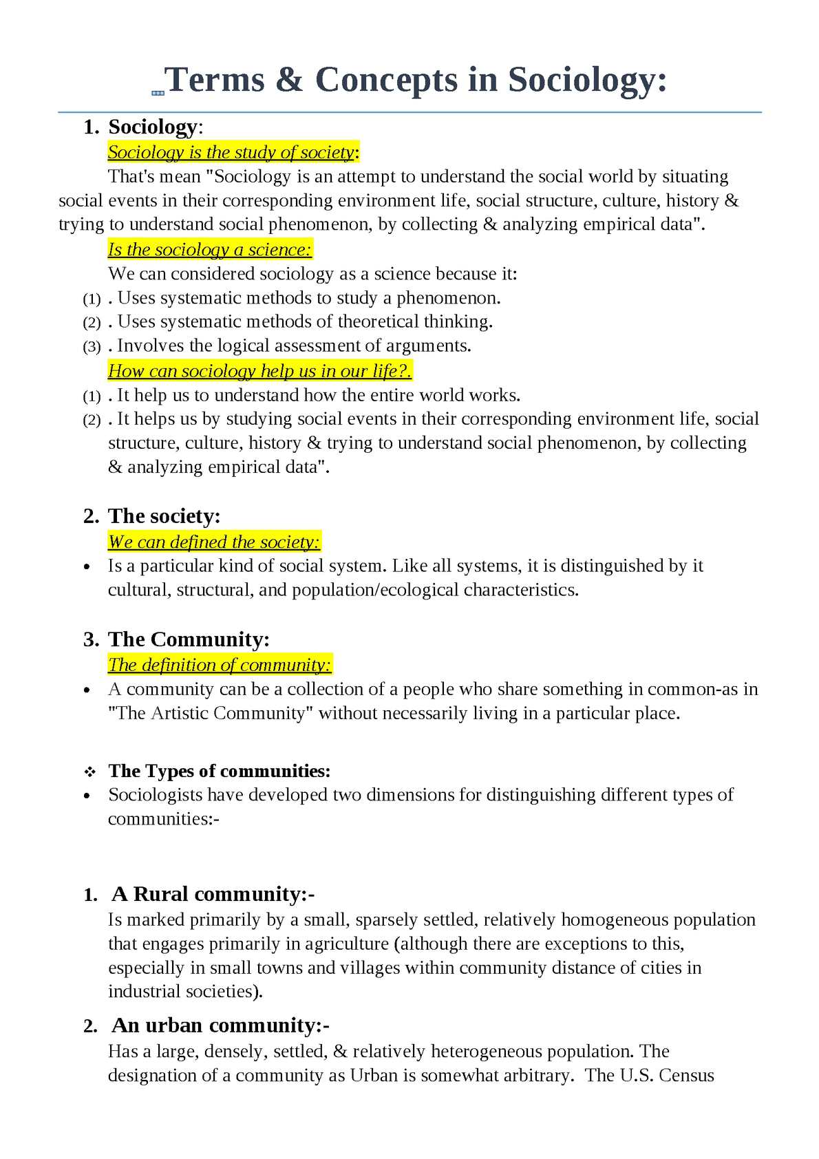 Sociology: Definition and Overview of the Field
