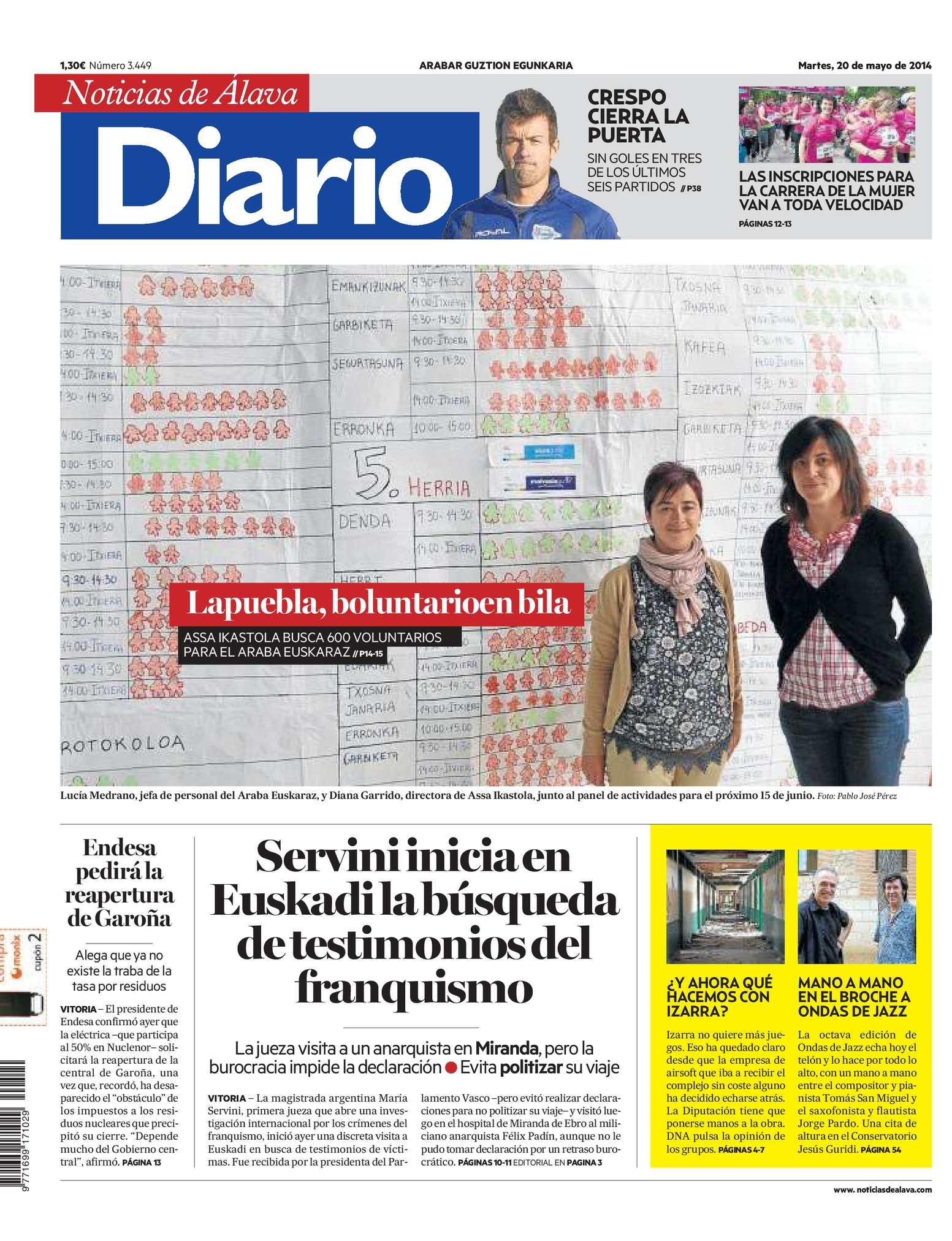 finest selection 81058 694d2 Calaméo - Diario de Noticias de Álava 20140520