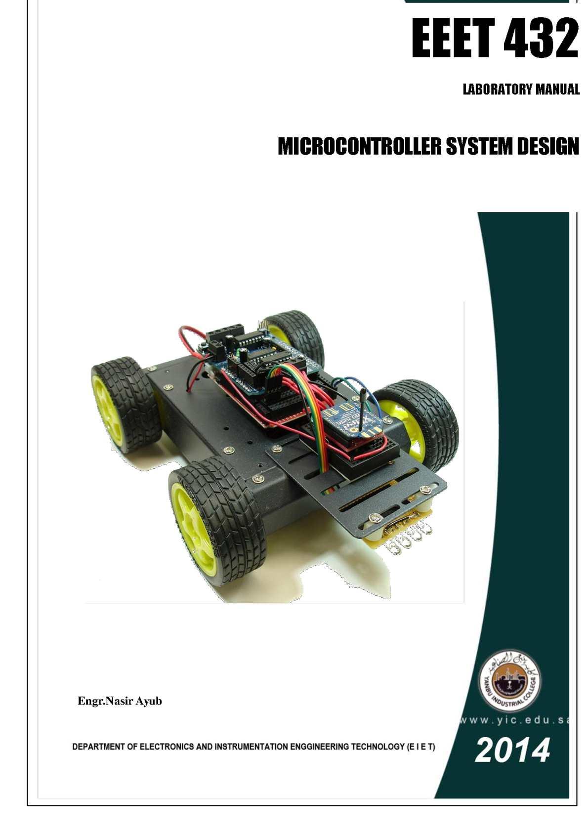 Calameo Microcontroller System Design Lab Manual