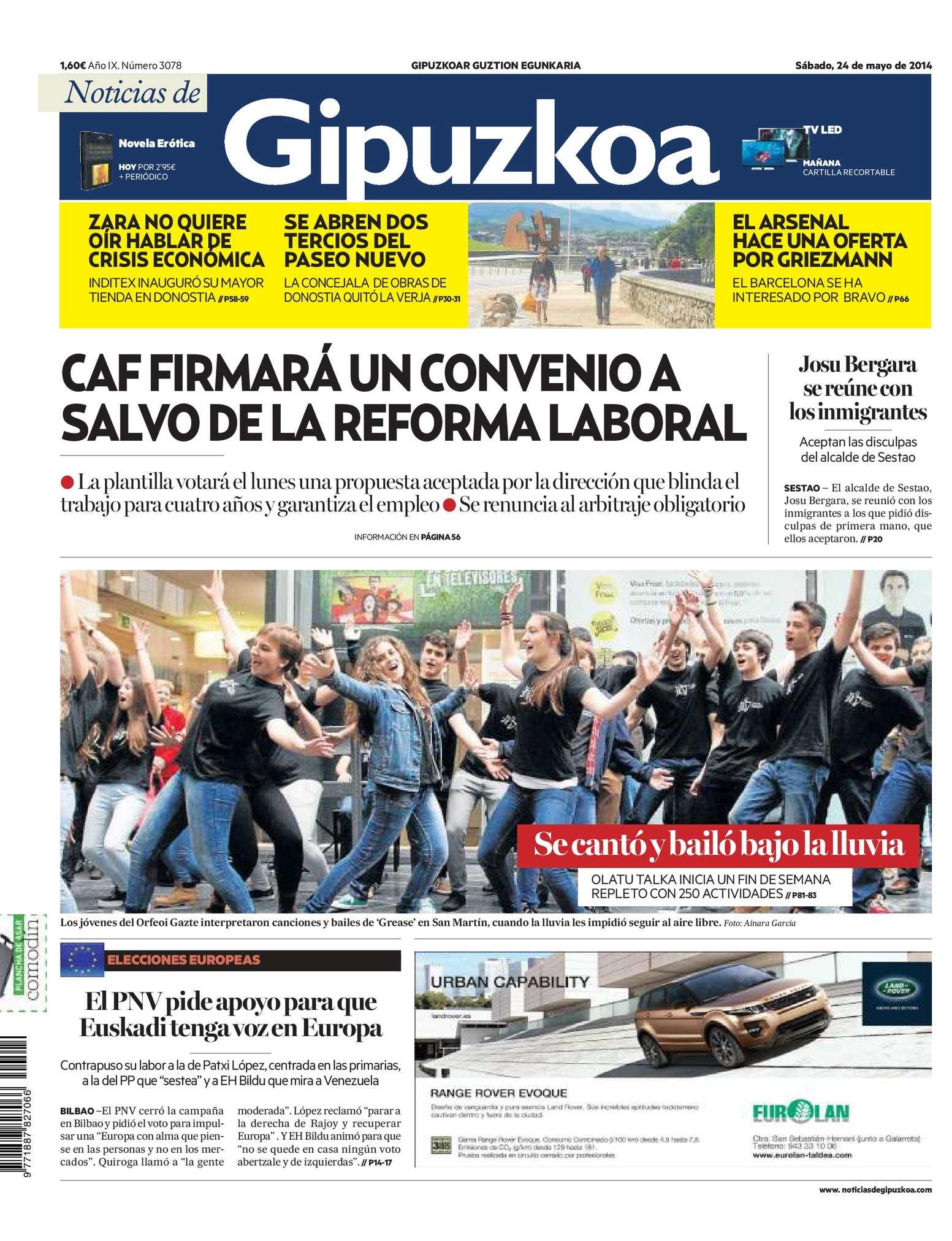 8aeb4d7f73 Calaméo - Noticias de Gipuzkoa 20140524