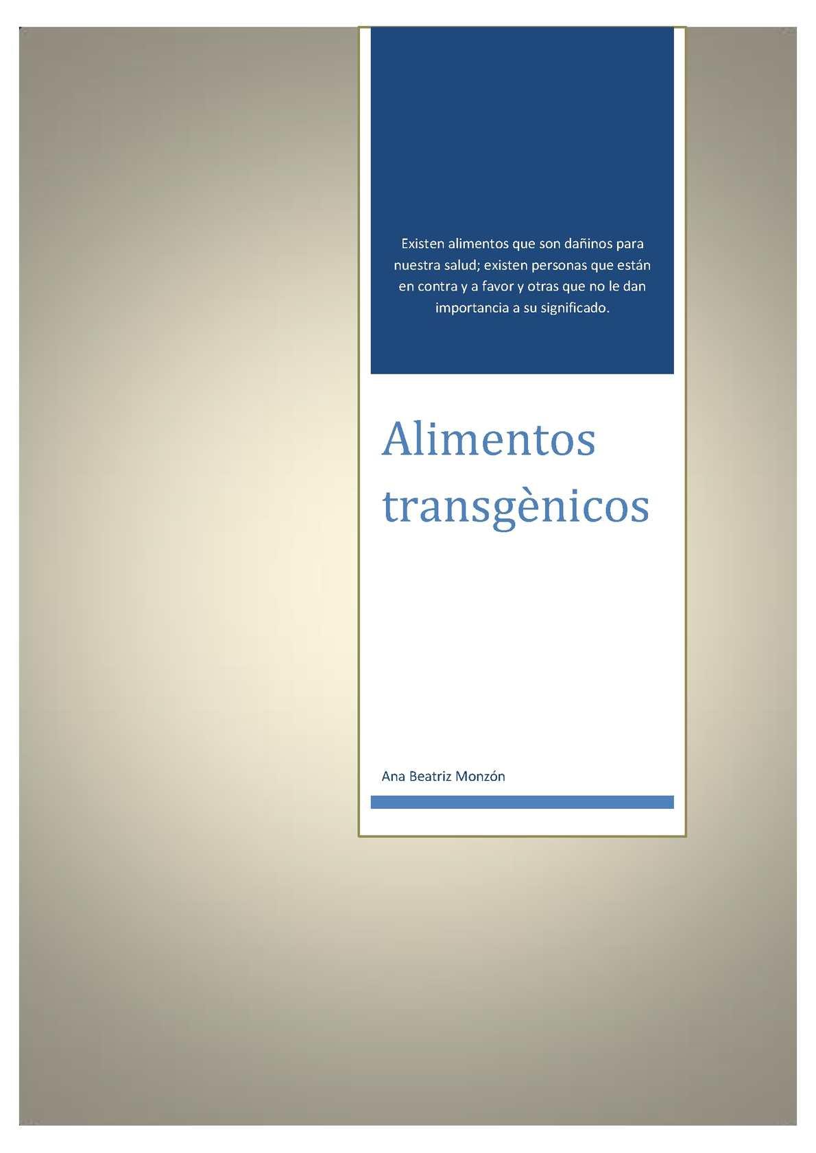 Alimentos Transgenicos Ventajas Y Desventajas Download