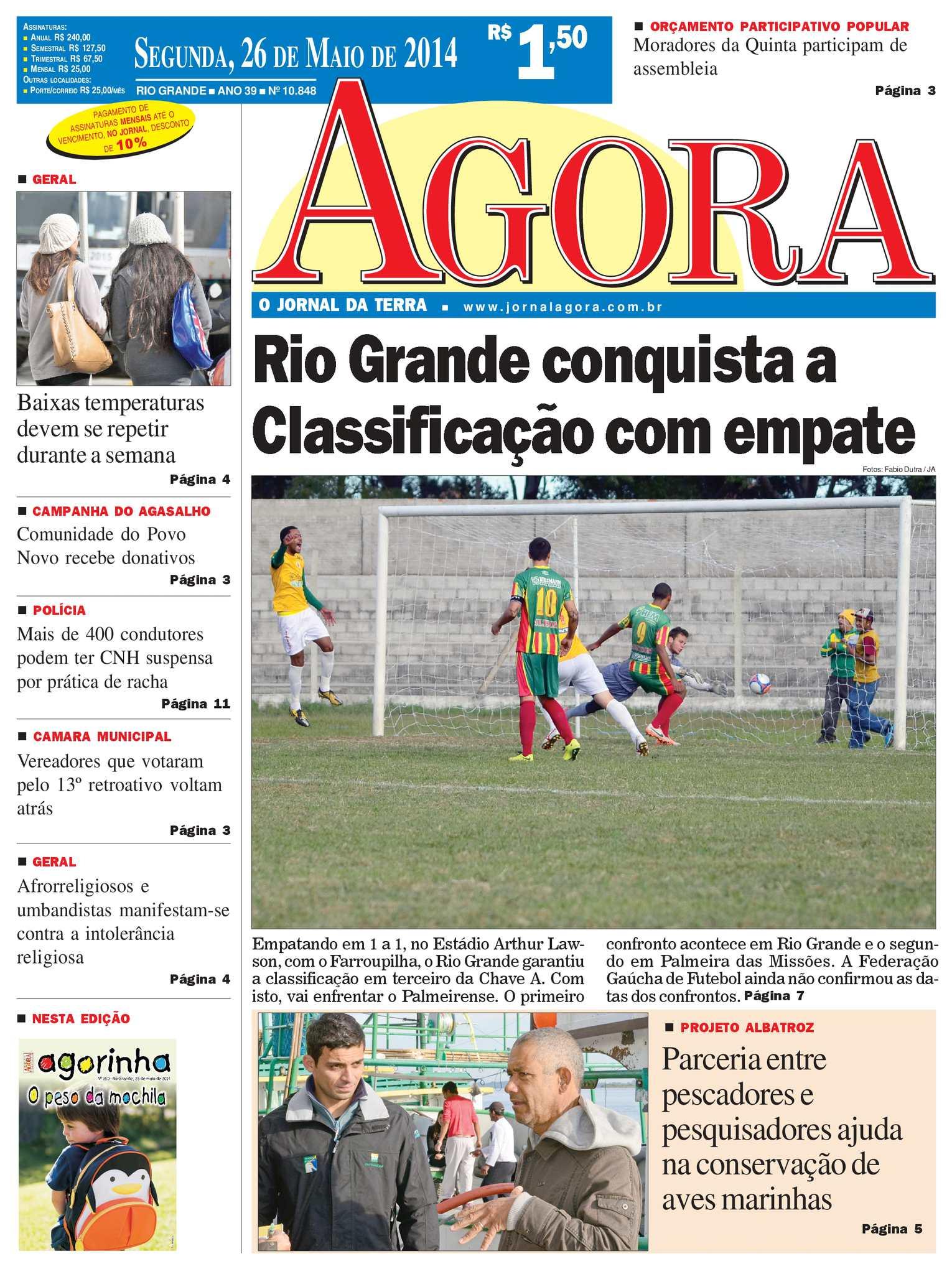 bb68f5b7ae Calaméo - Jornal Agora - Edição 10848 - 26 de maio de 2014