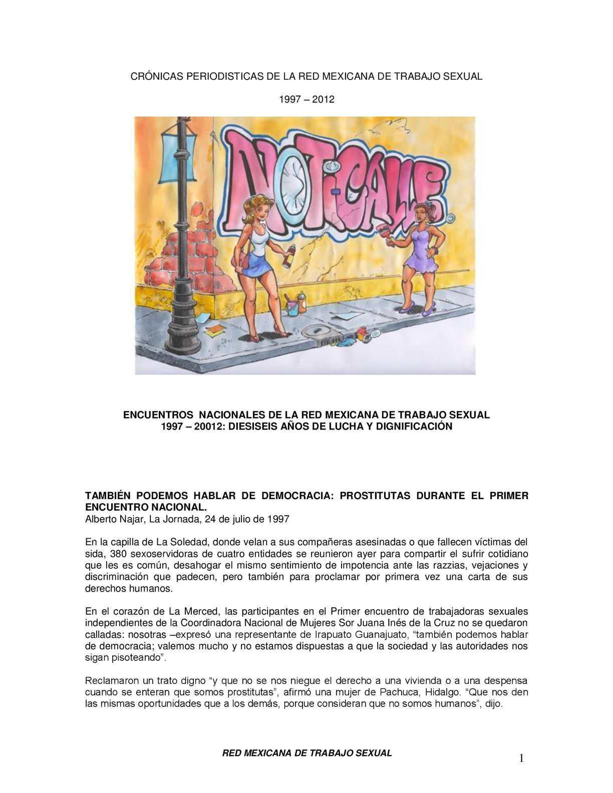 Calaméo - Crónicas periodisticas de la Red Mexicana de Trabajo Sexual 274854f7834
