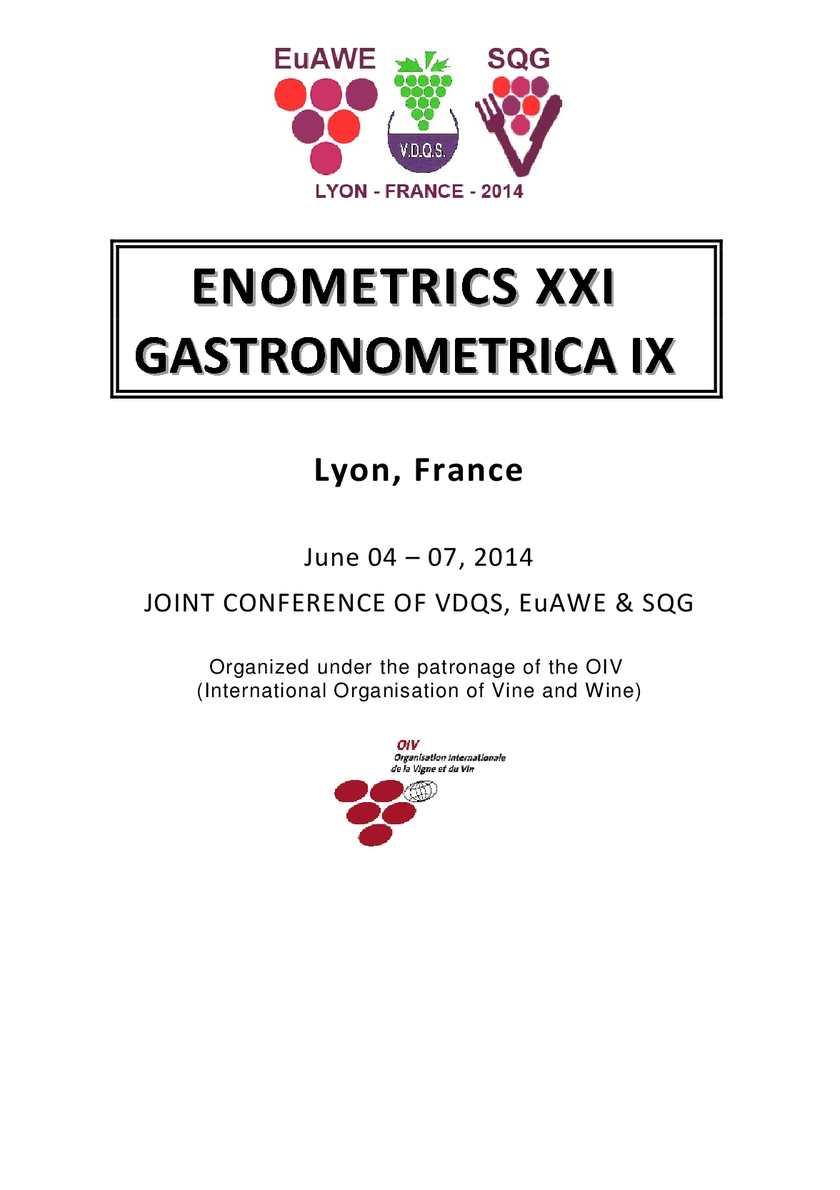 Calaméo Booklet Xxi Enometrics Conference Lyon 2014