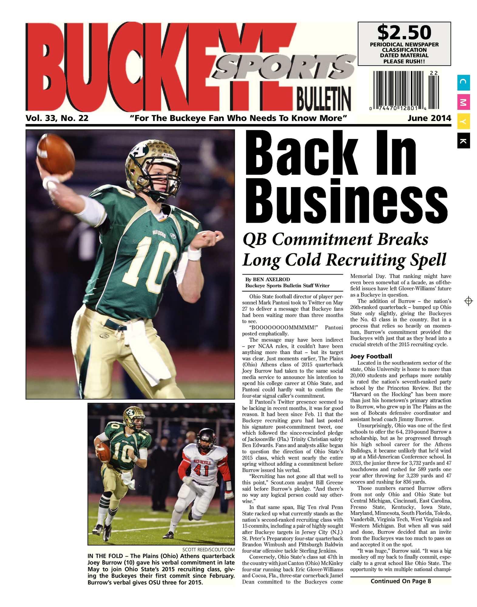 promo code bd922 cf640 Buckeye Sports Bulletin June, 2014