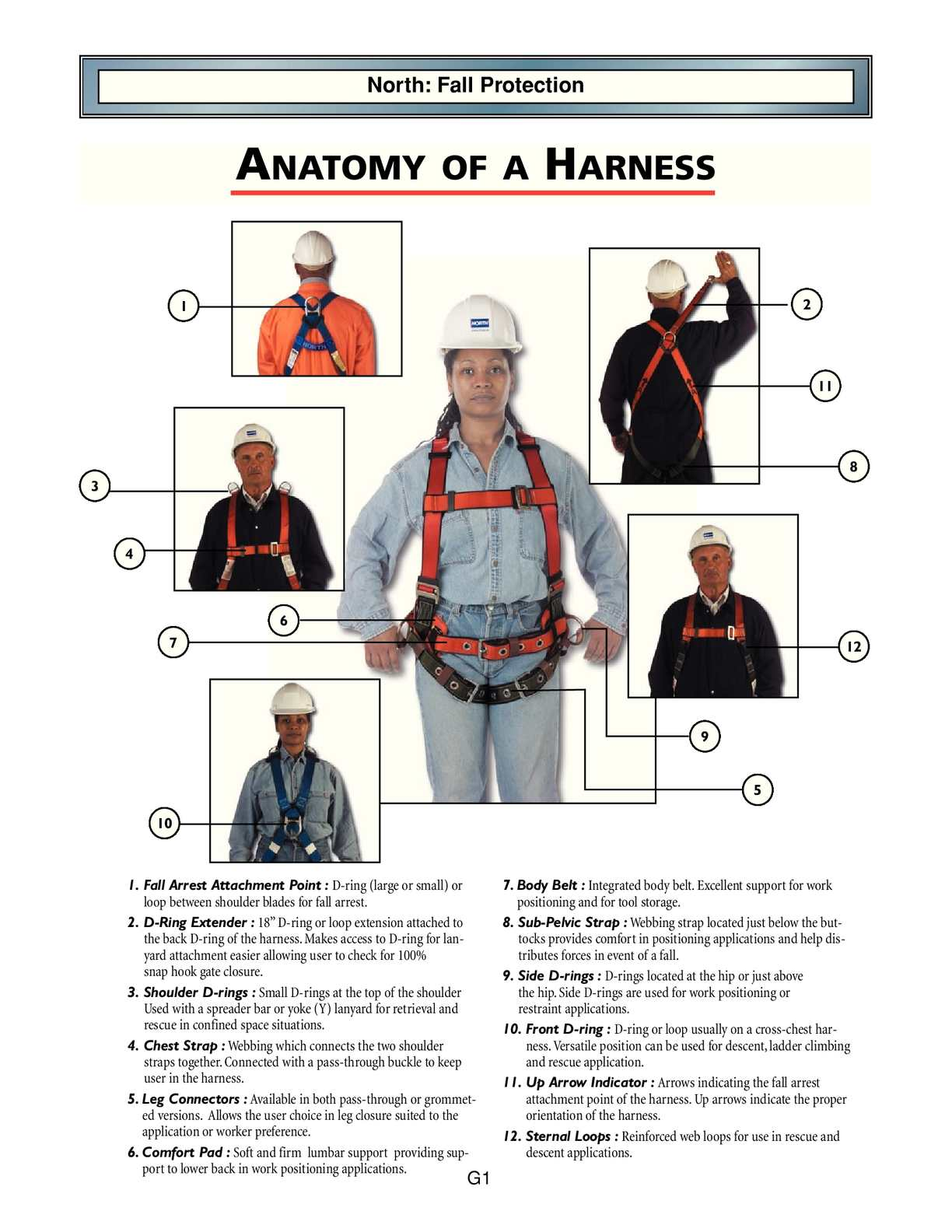 Fall Protection Safety Harness Kit W 3 D-Rings for Lanyard Deluxe Safety Protect
