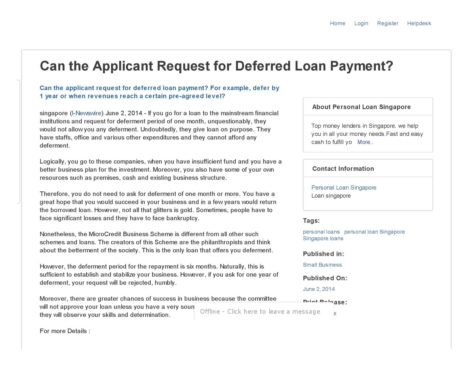 Calaméo - Can the Applicant Request for Deferred Loan Payment?