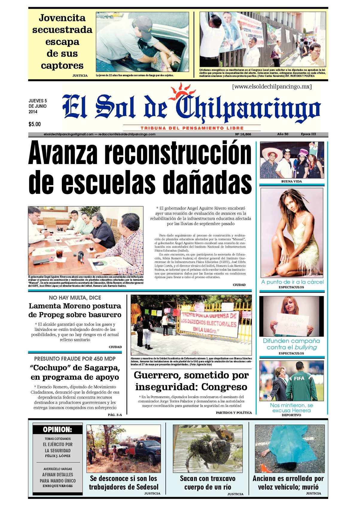 Calaméo - El Sol de Chilpancingo 05 Junio 2014 a38c657ecb7