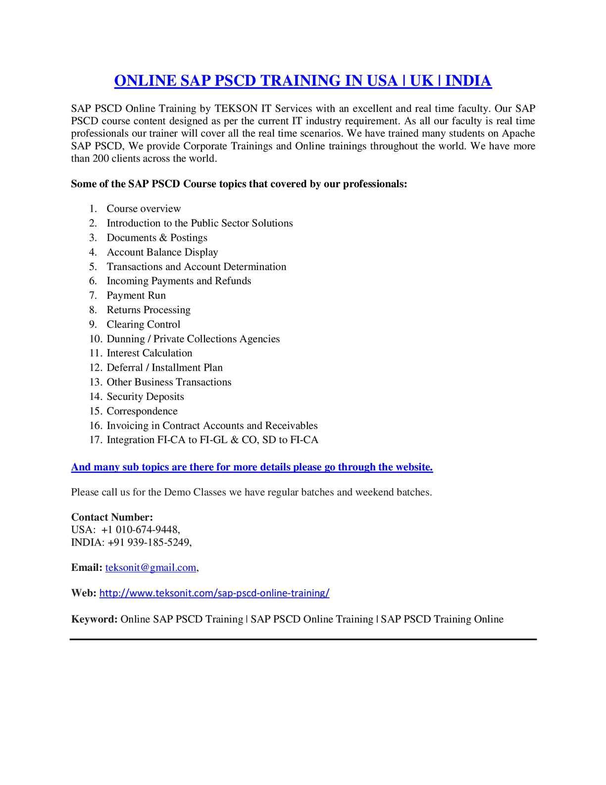 Calaméo - Online SAP PSCD Training   SAP PSCD Online