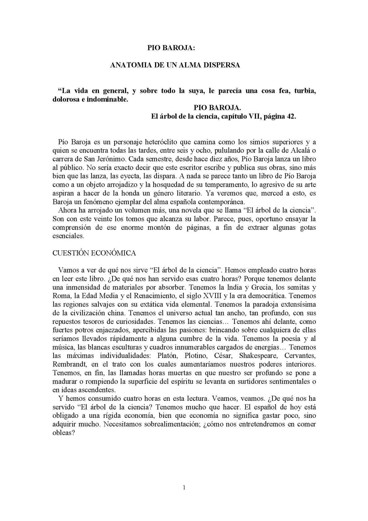 Calaméo José Ortega Y Gasset Píobaroja Anatomia De Un Alma Dispersa