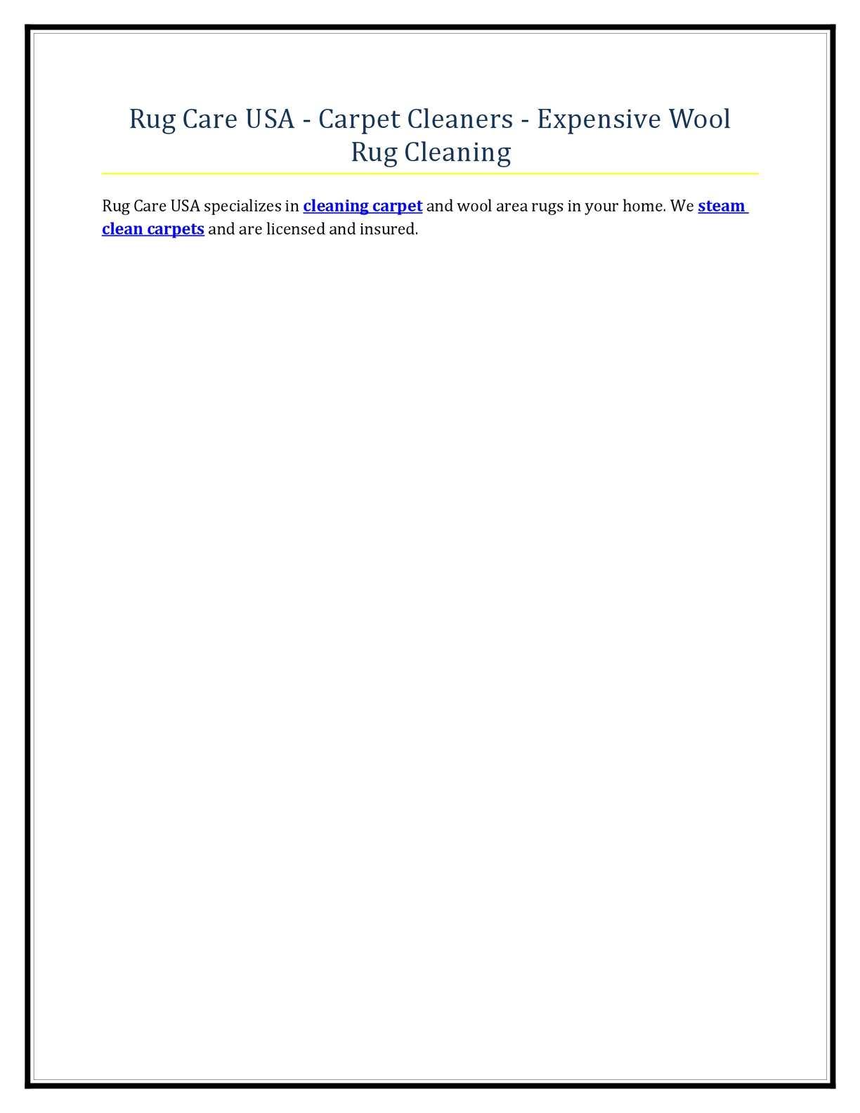 Calameo Rug Care Usa Carpet Cleaners Expensive Wool