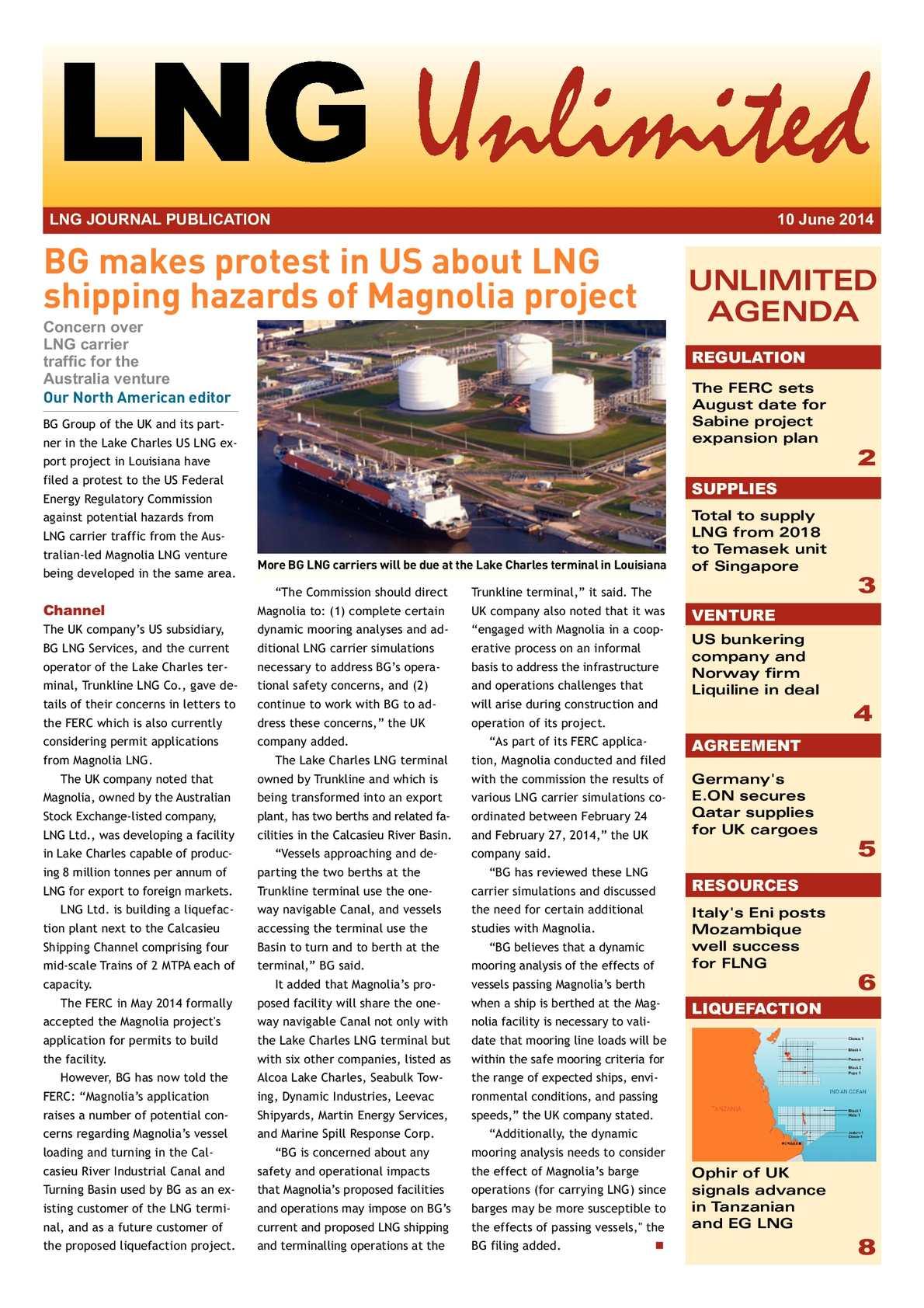 Calaméo - LNG Unlimited - 58 - 10 June 2014