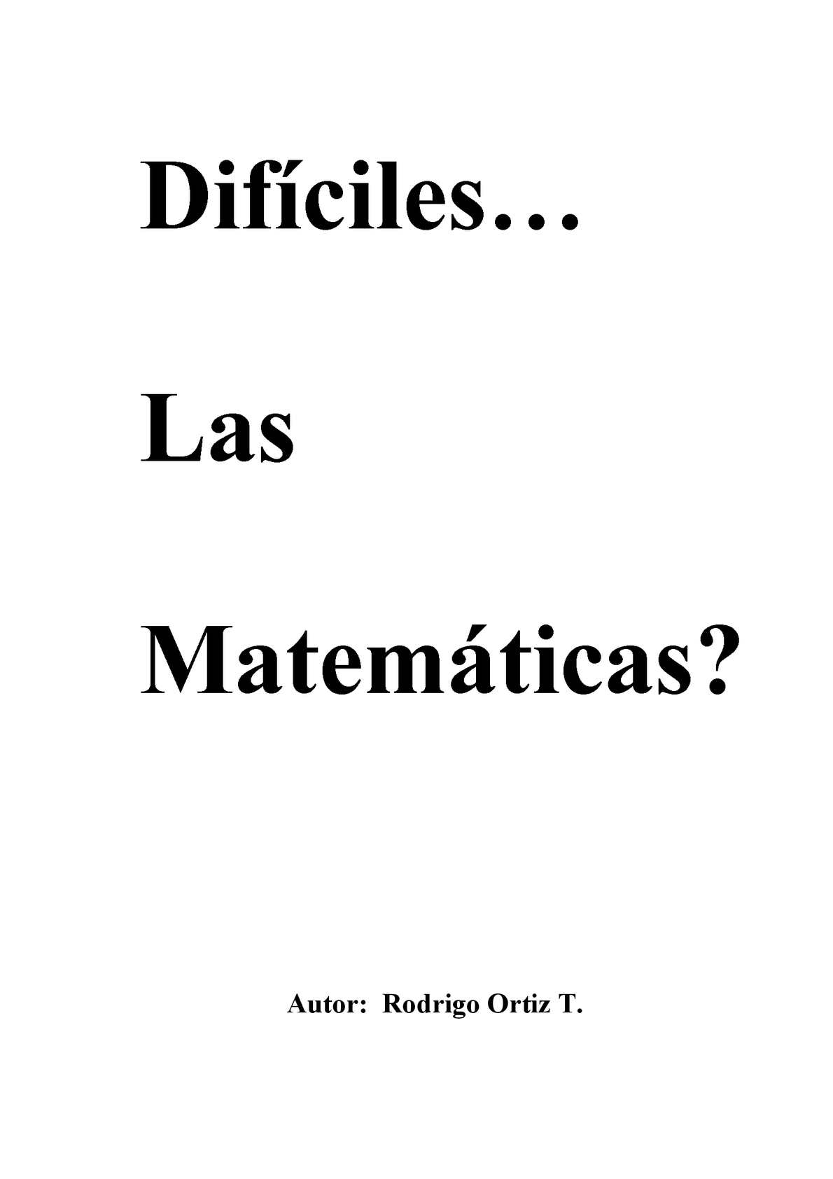 Calameo Dificiles Las Matematicas