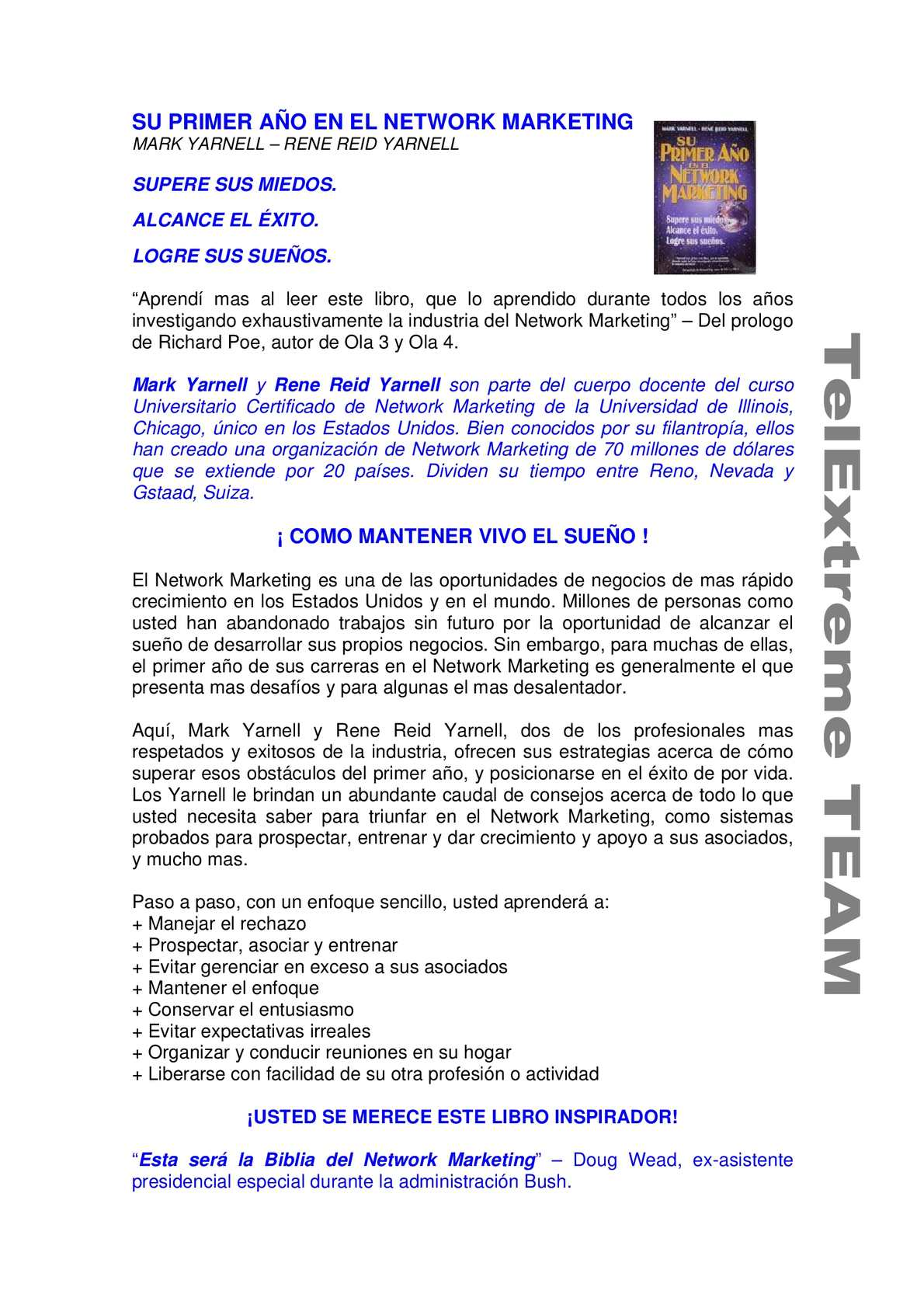 5107555b4bc7 Calaméo - Su Primer Ano en el Network Marketing