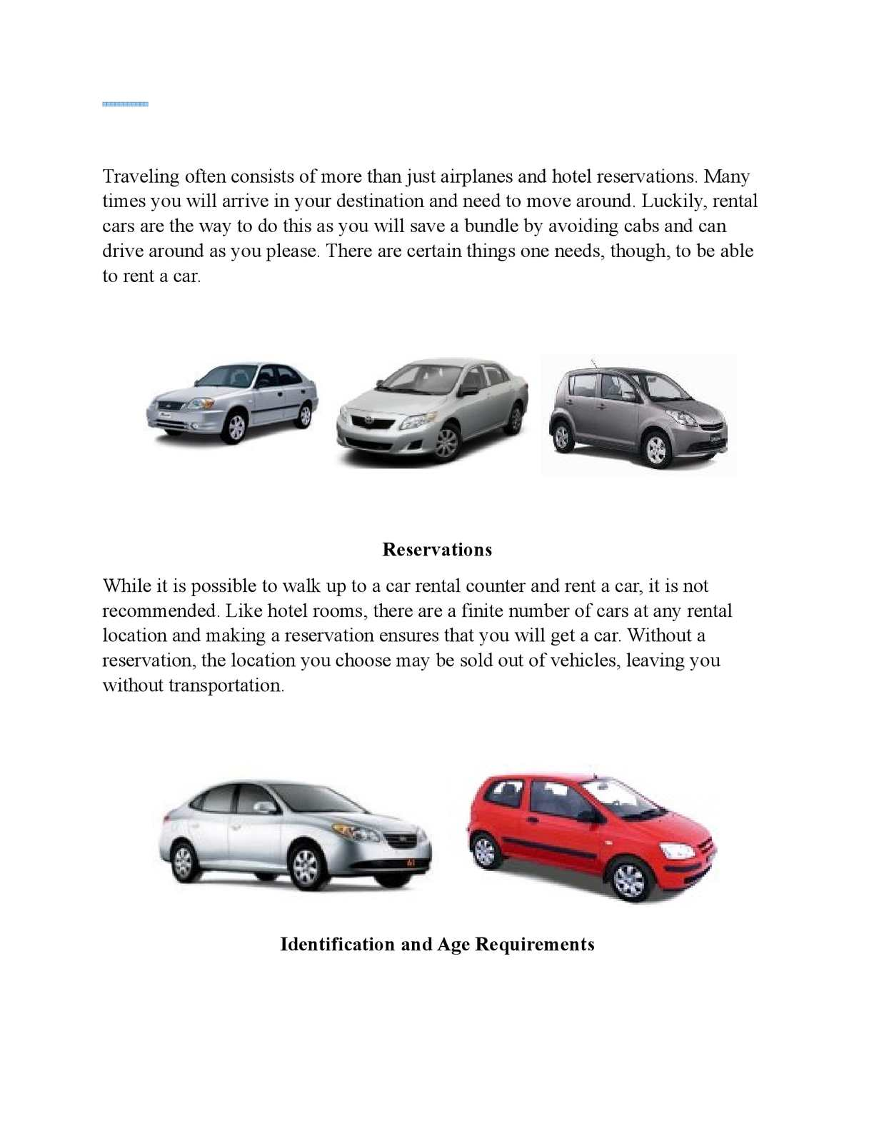 Requirements To Rent A Car >> Calameo What You Need To Rent A Vehicle