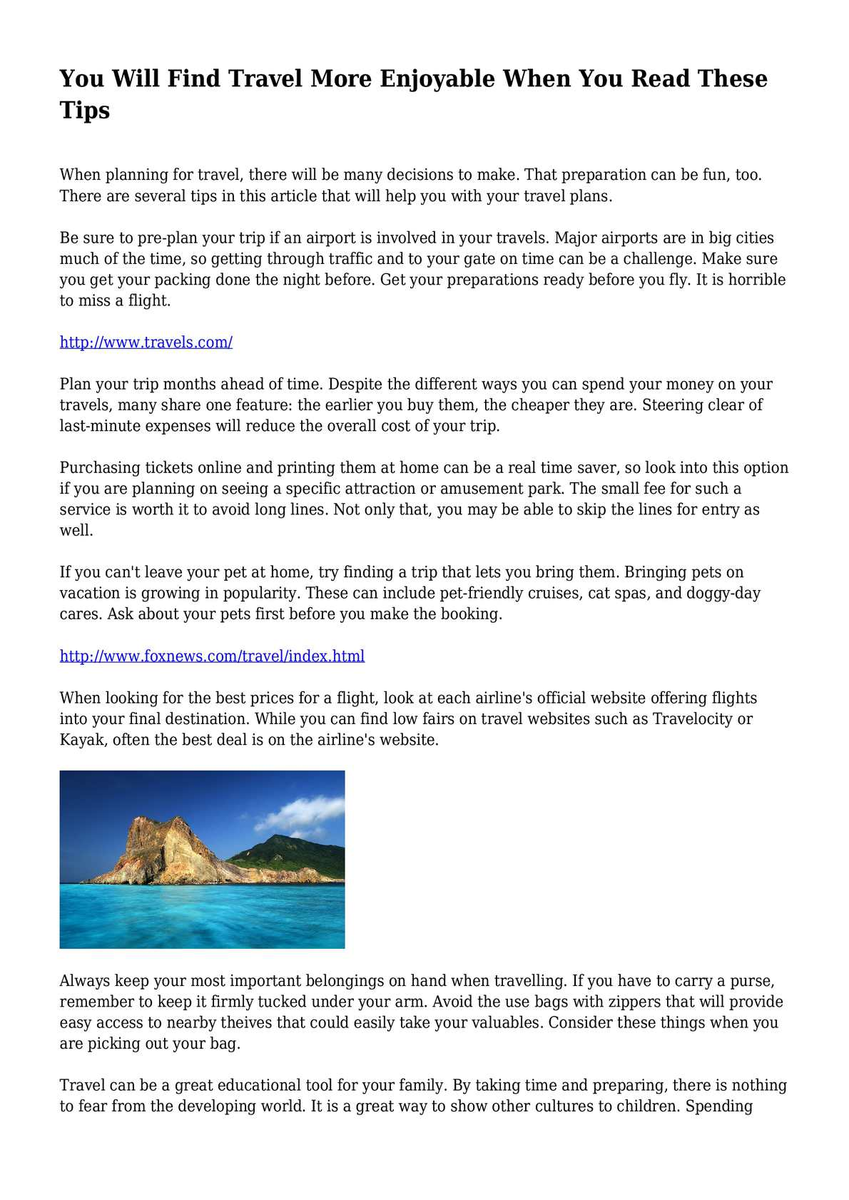 Calam o You Will Find Travel More Enjoyable When You Read These Tips – Site That Plans Trip For You
