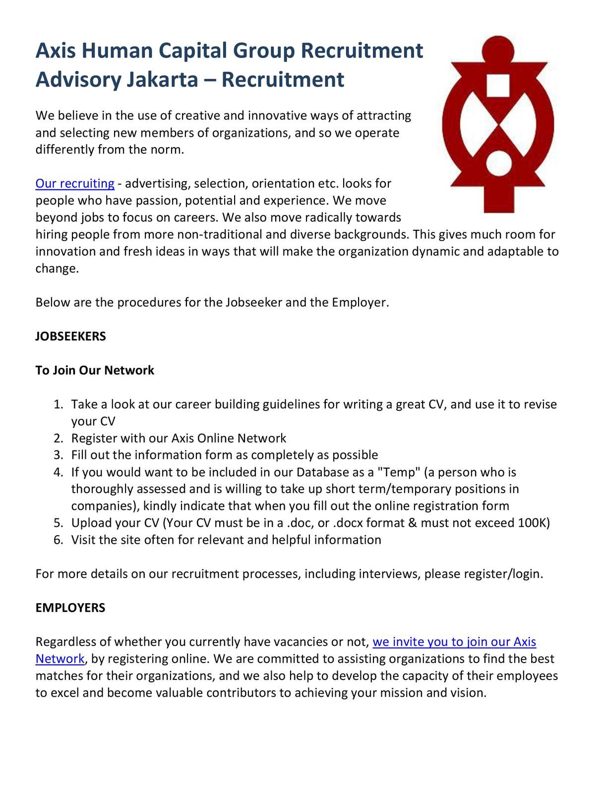 Calaméo - Axis Human Capital Group Recruitment Advisory Jakarta