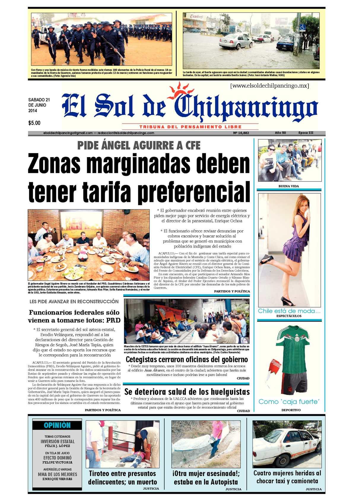 Calaméo - El Sol de Chilpancingo 21 Junio 2014 02191d8a17d